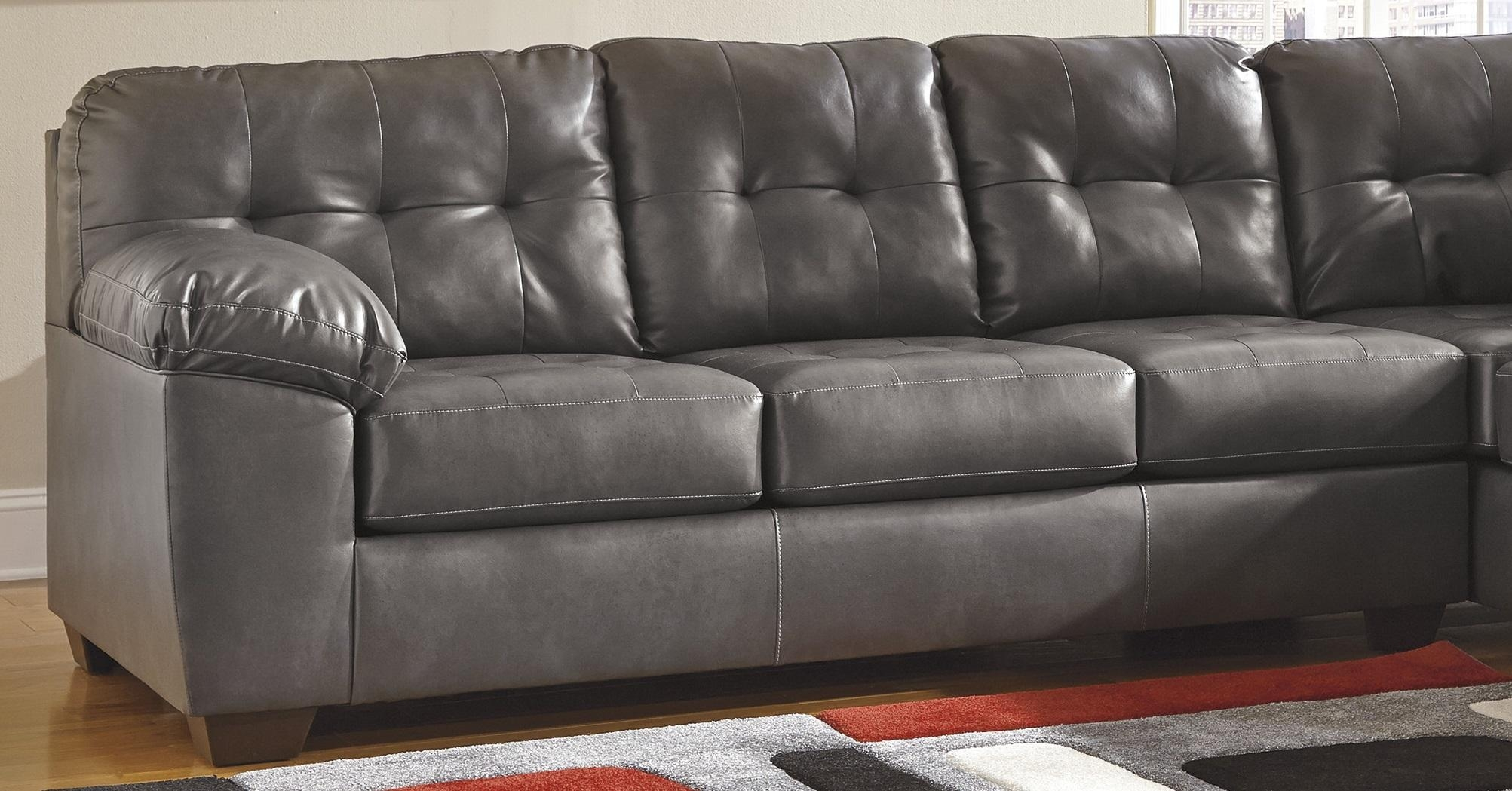 Sofas Center : Grey Leather Sofa Recliner Ashley Gray And Within Charcoal Grey Leather Sofas (View 17 of 20)