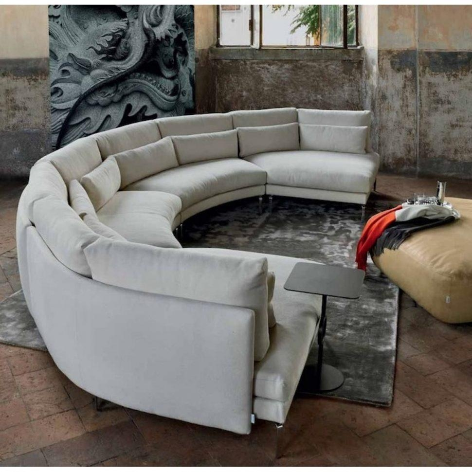 Sofas Center : Half Circle Sectional Sofa Price Round Couch Regarding Semi Circular Sectional Sofas (Image 17 of 20)