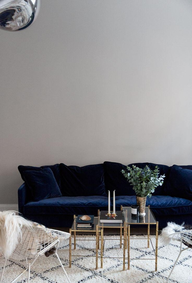 Sofas Center : Hendricks Dark Blue Fabric Seater Sofa Buy Now At For Dark Blue Sofas (Image 17 of 20)