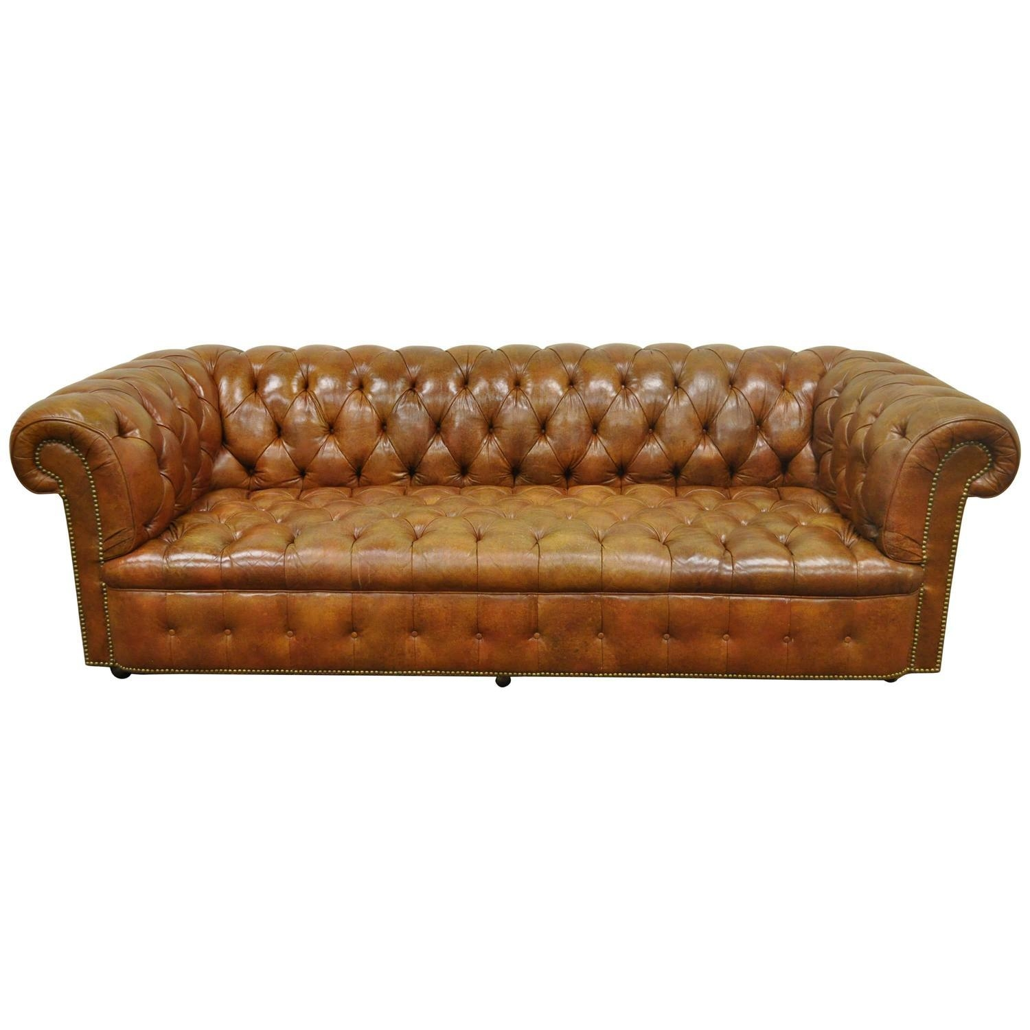 Sofas Center : Henredon Sofa Prices Rolled Arm English Style Pertaining To Brown Leather Tufted Sofas (Image 18 of 20)