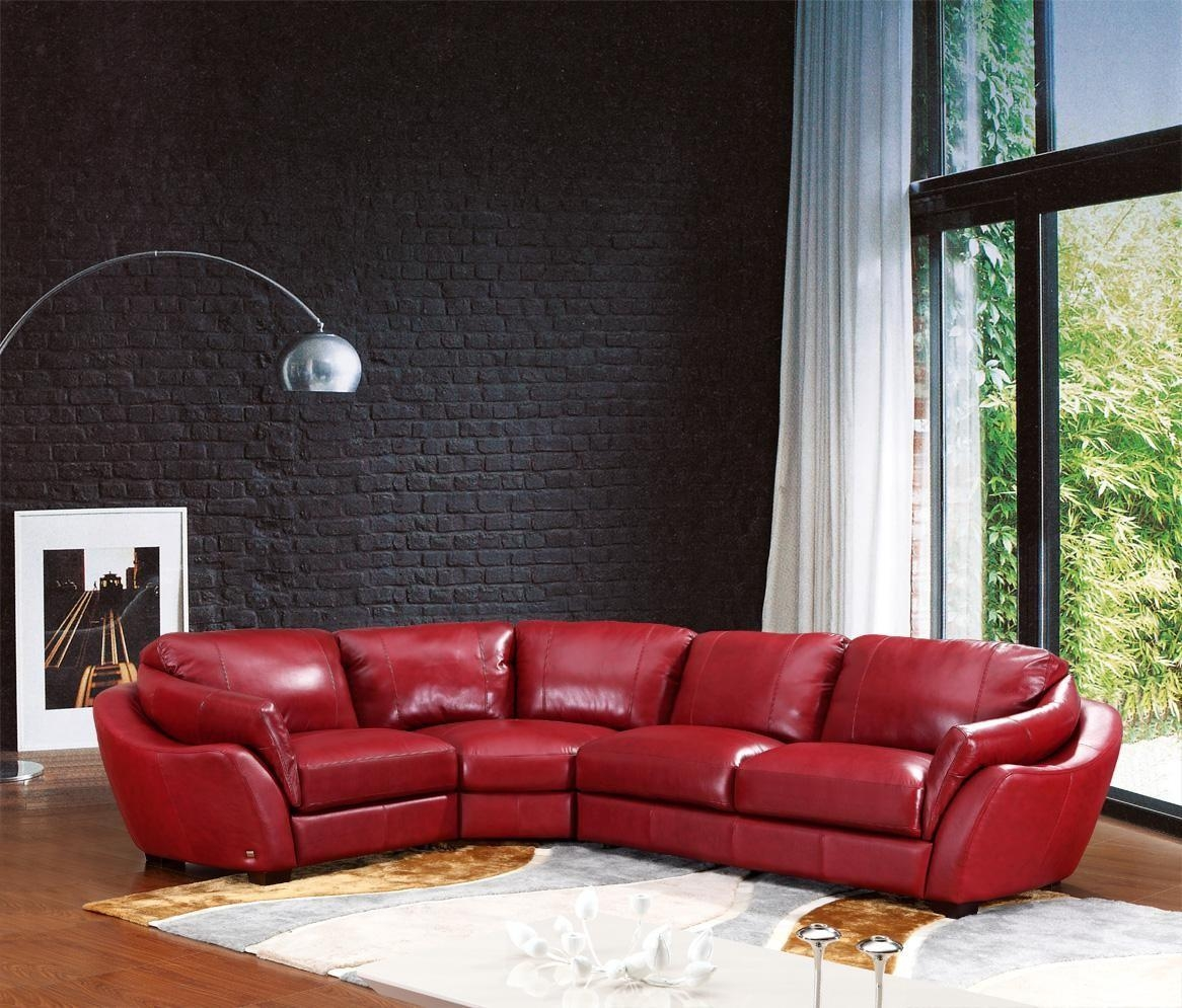 Sofas Center : Italian Leatherfa Sleeper White Set With Headrest Pertaining To Italian Leather Sectionals Contemporary (Image 20 of 20)
