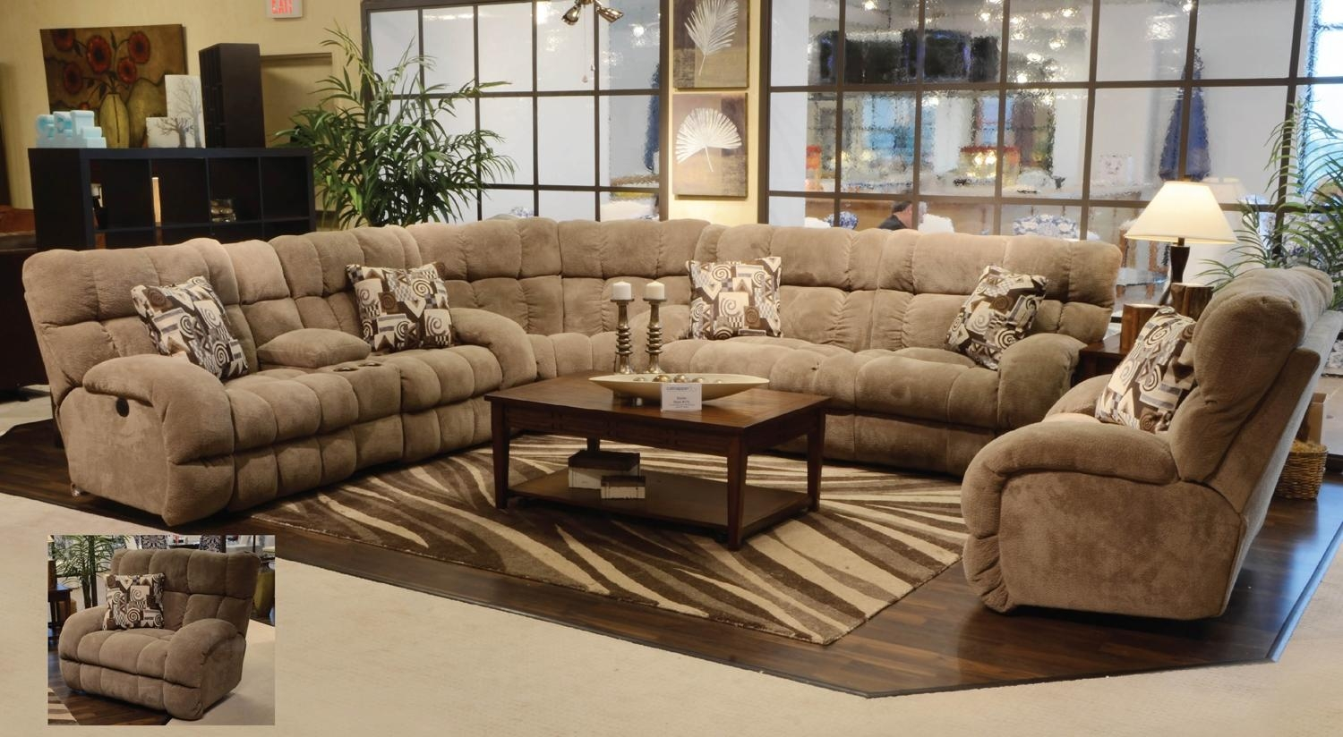 Sofas Center : Large Sectional Sofas With Chaise Extra Wilmington For Sectional With Large Ottoman (Image 13 of 20)