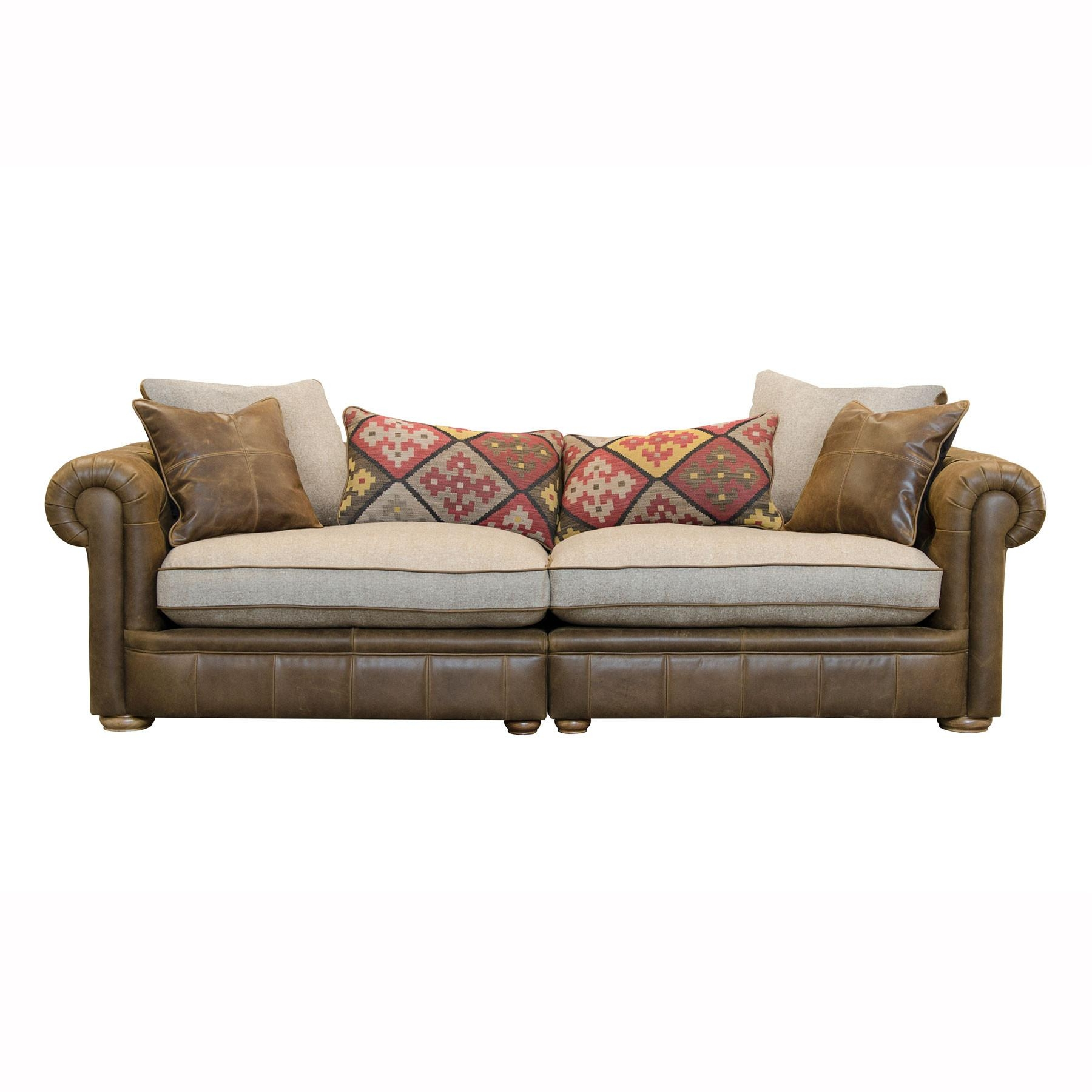 Sofas Center : Leather And Fabric Sofa Sofaslove Seats 86 Within Leather And Cloth Sofa (Image 17 of 20)