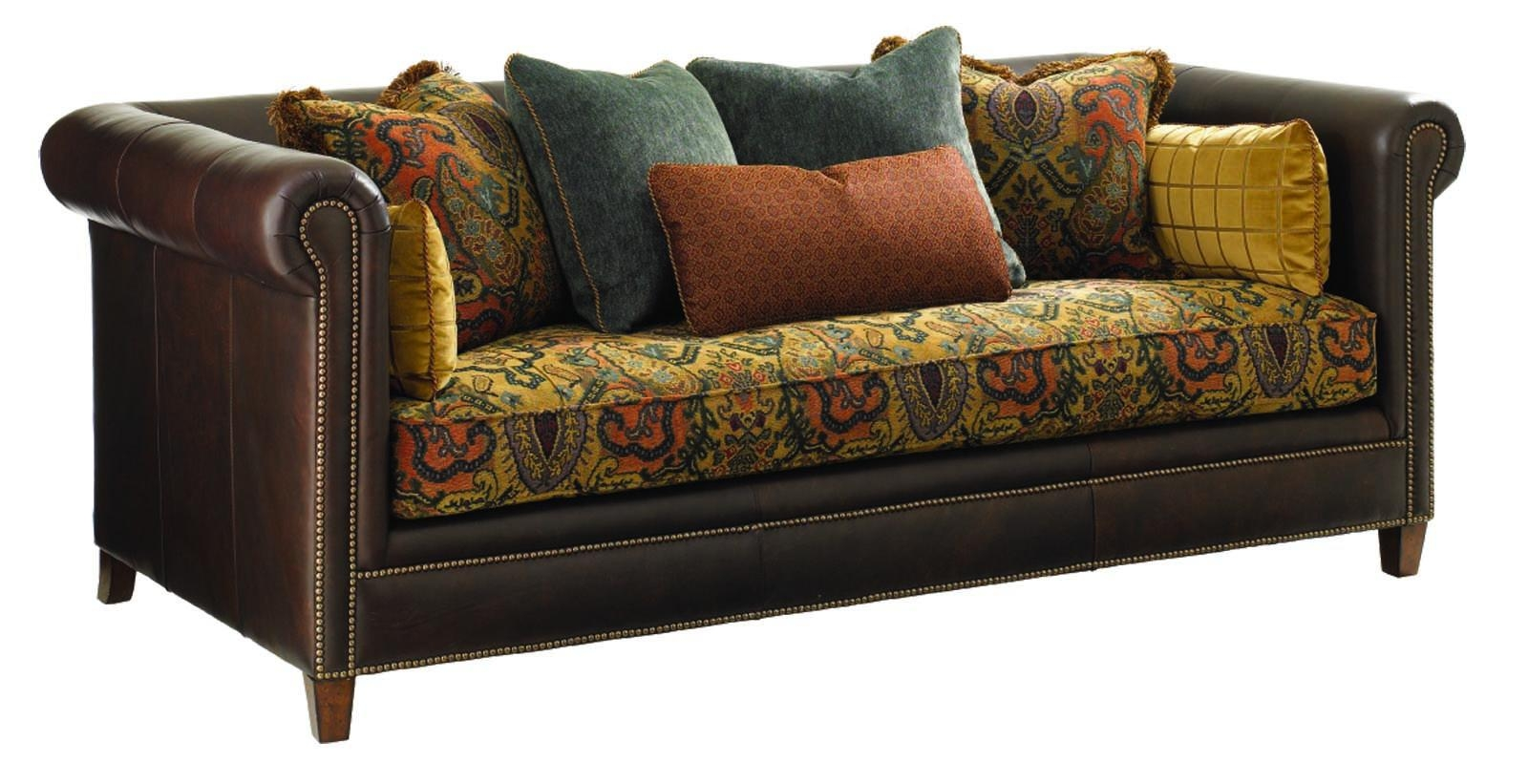 Sofas Center : Leather Fabric Sofas Suit Furniture And Sofa In L Pertaining To Leather And Cloth Sofa (View 20 of 20)