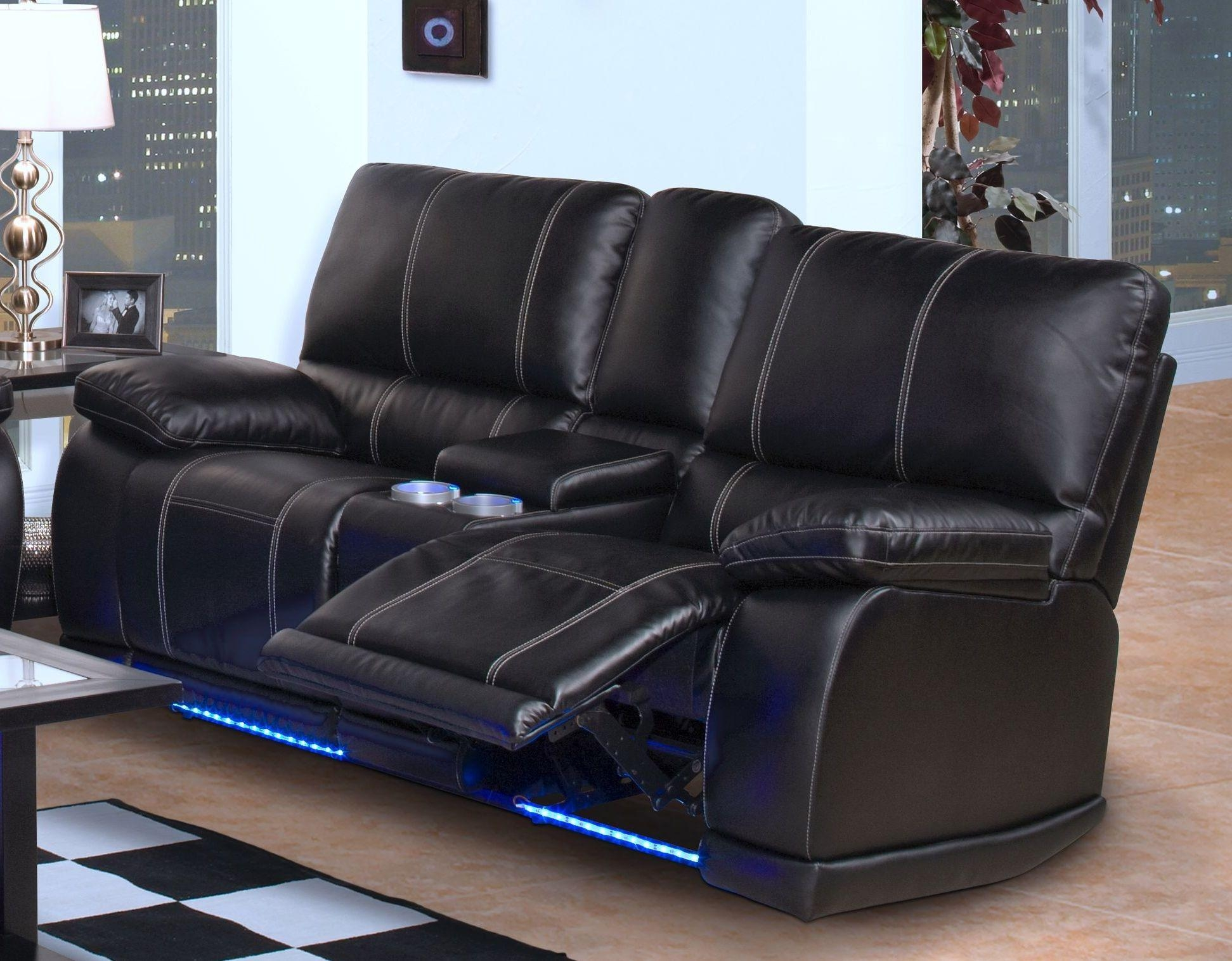 Sofas Center : Leather Reclining Sofa Costco Pulaski And Loveseat In Sofas With Drink Holder (Image 20 of 20)