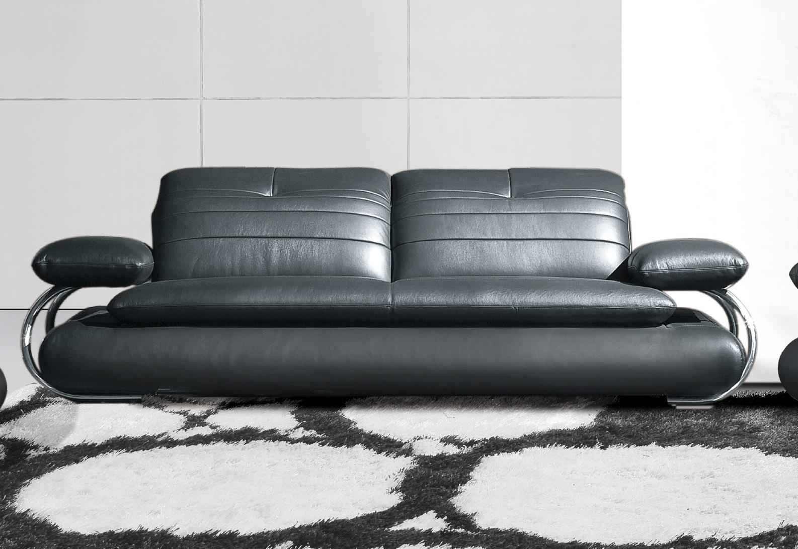 Sofas Center : Leather Sofa Black Modern Tufted Loveseat With In Black Modern Couches (Image 19 of 20)