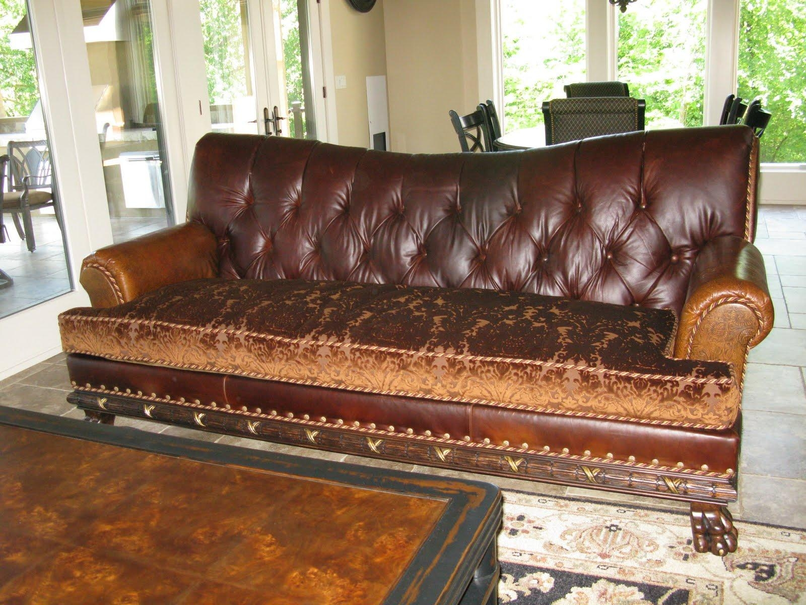 Sofas Center : Leather Tufted Sofa Archaicawful Photos Design Pertaining To Brown Tufted Sofas (Image 15 of 20)