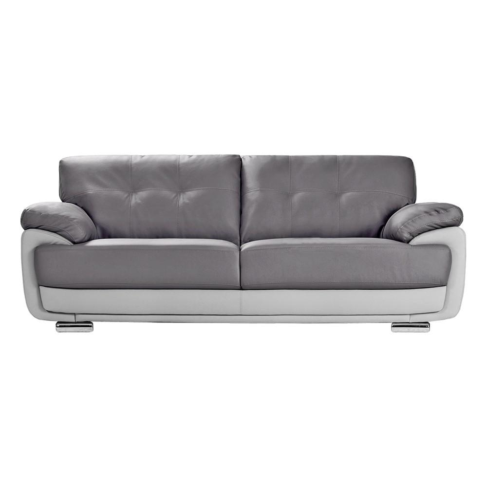 Sofas Center : Light Grey Aspen Leather Sofa Modern Gray Sectional In Aspen Leather Sofas (Image 16 of 20)