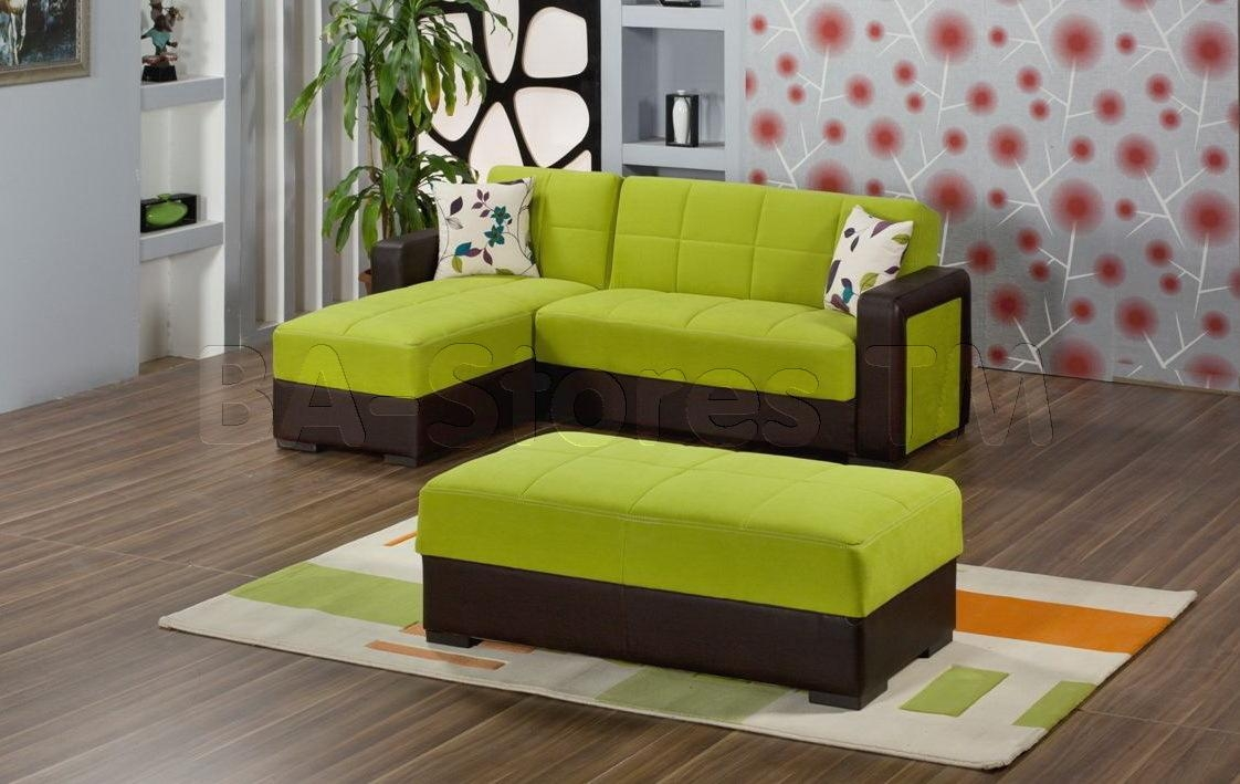 Sofas Center : Likable Olive Green Fabric Sectional Sofa With Within Green Leather Sectional Sofas (Image 19 of 20)