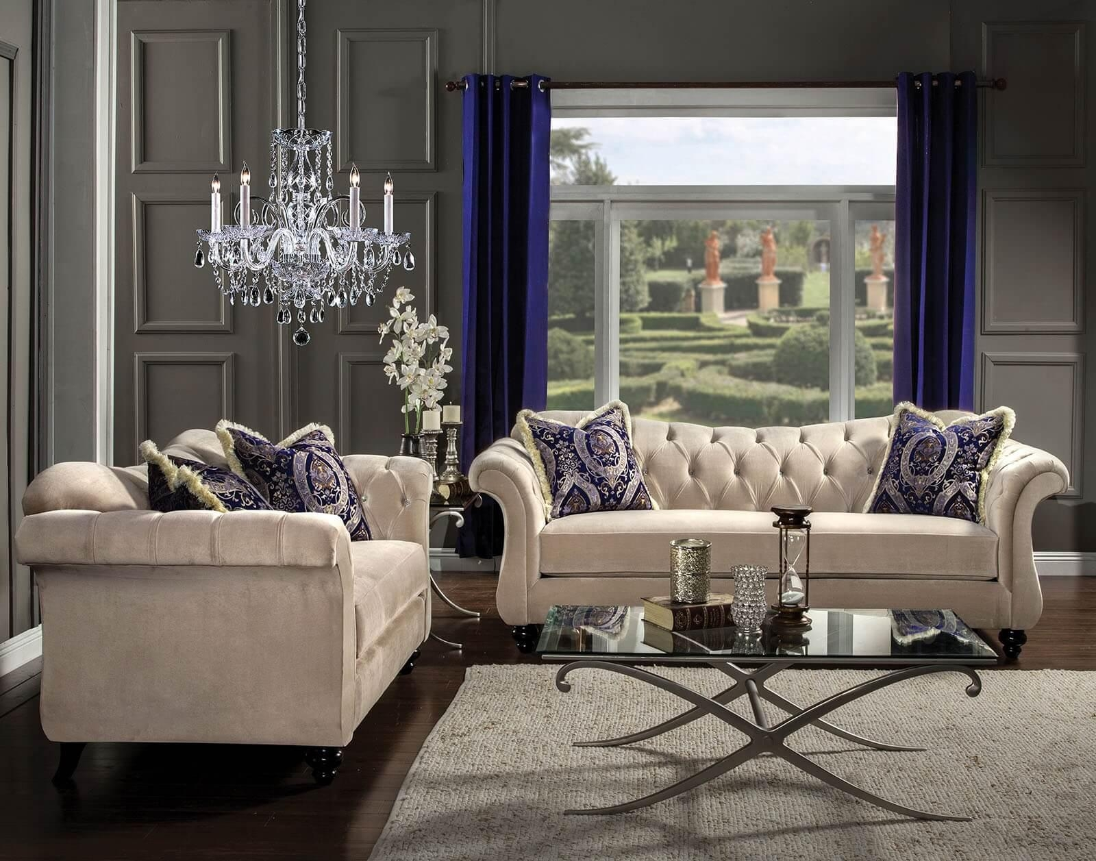 Sofas Center : Living Room Affordable Chic Ashley Furniture For Inside Affordable Tufted Sofas (View 20 of 20)