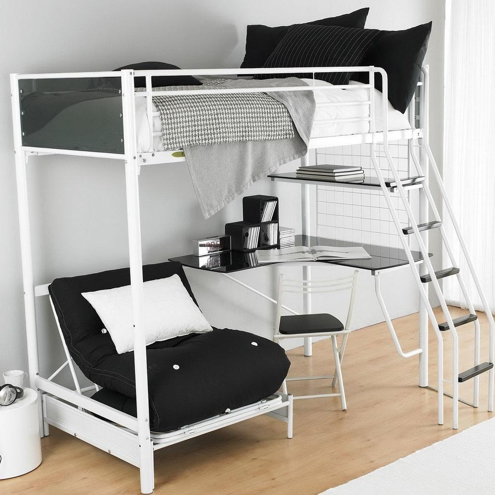 Sofas Center : Loft With Sofa Bedroom White Wooden Bunk Beds Desk Within Bunk Bed With Sofas Underneath (Image 17 of 20)