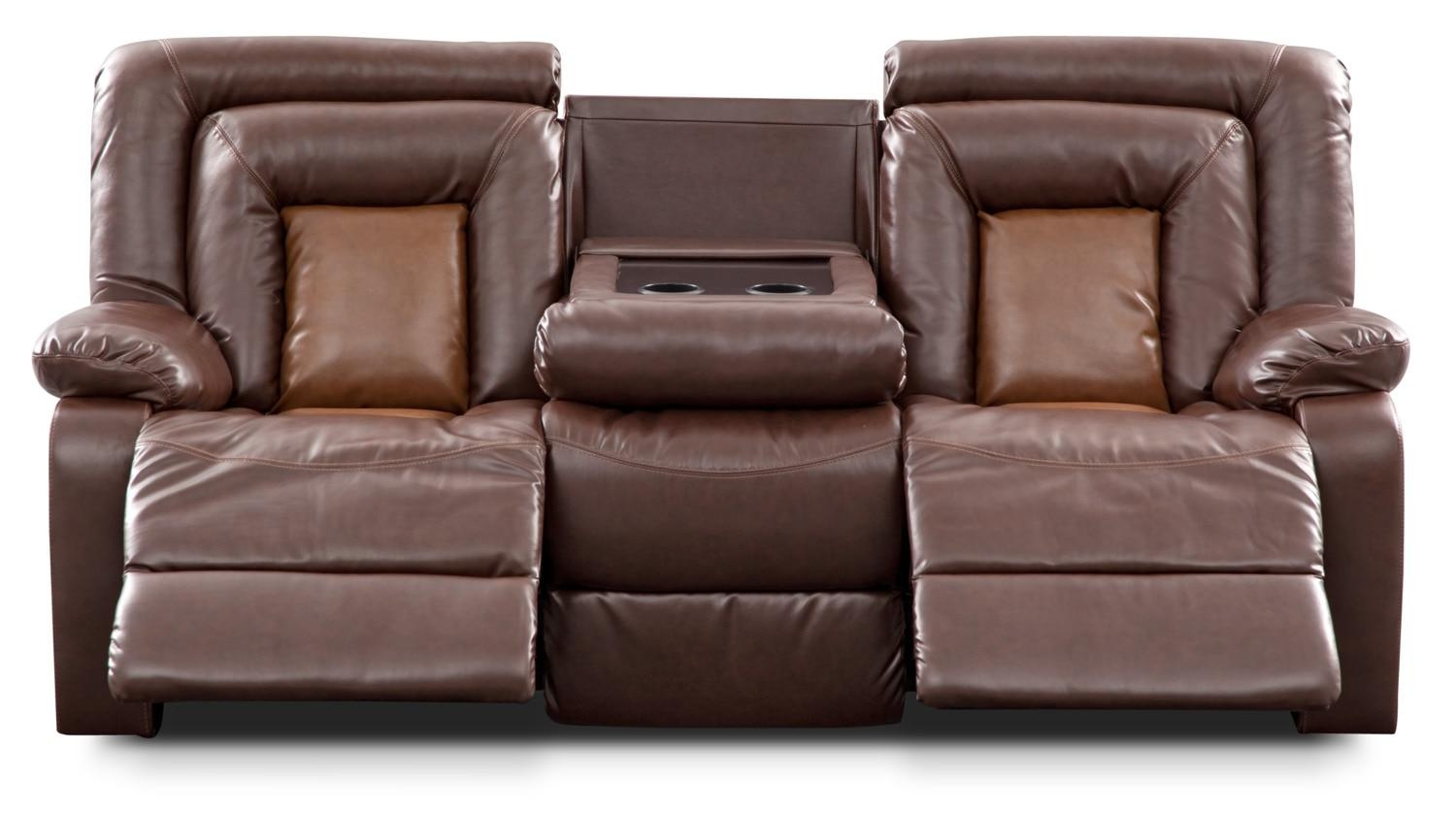 Sofas Center : Magnificent Recliningfa With Console Images Concept In Sofas With Console (View 9 of 20)