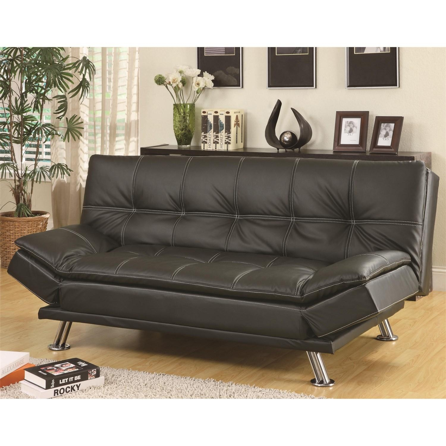 Sofas Center Mainstays Black Faux Leather Sleeper Sofa Modern – Ftfpgh Regarding Faux Leather Sleeper Sofas (View 10 of 20)