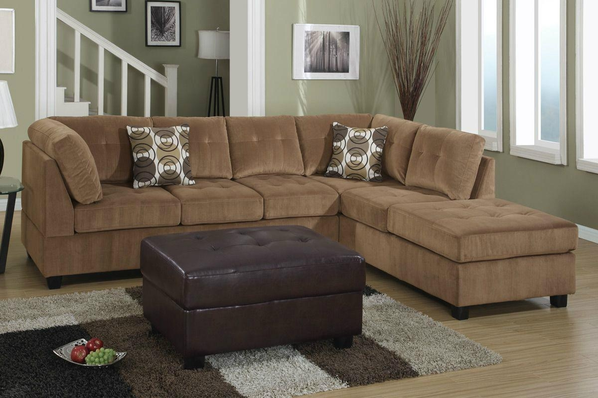 Sofas Center : Microfiber Sectional Sofa With Ottoman For Sale In Microsuede Sectional Sofas (Image 18 of 20)