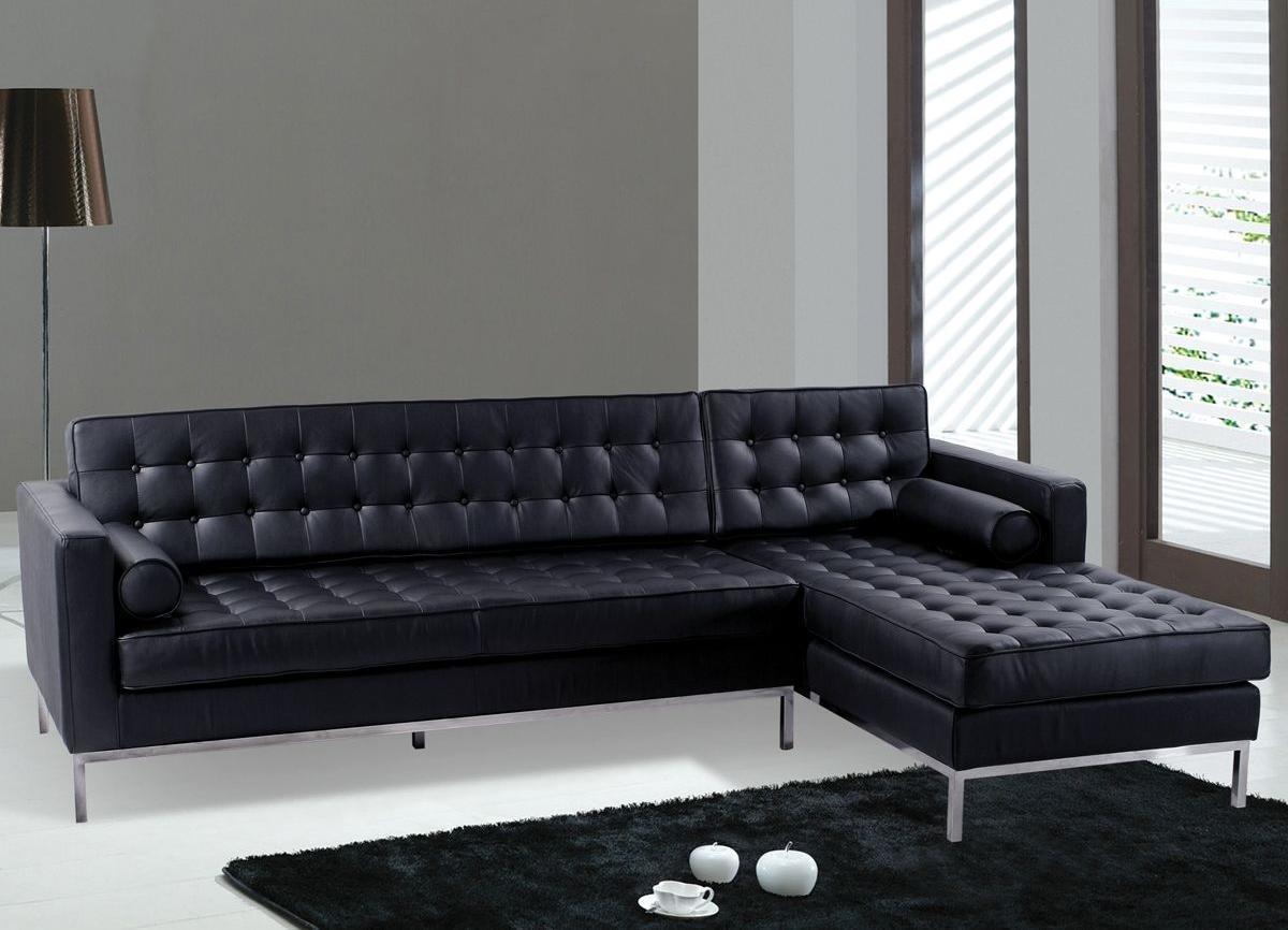 20 photos black modern couches sofa ideas - Black and white modern living room furniture ...