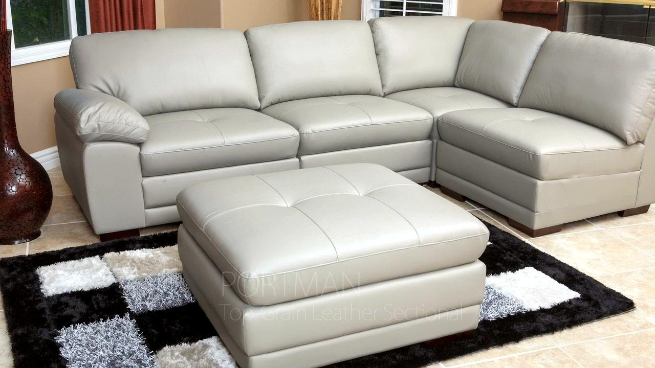 Sofas Center : Modular Sofa Contemporary Leather Fabric Time Break Regarding Leather Sectional Austin (Image 14 of 20)