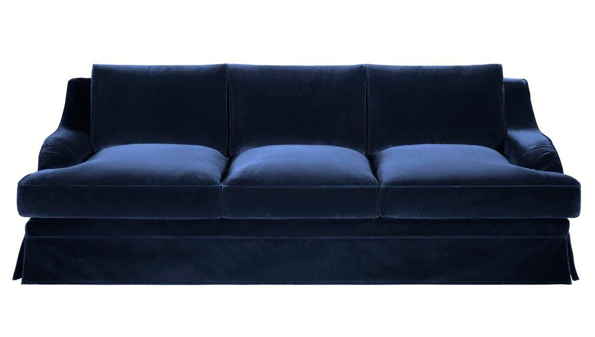 Sofas Center : Navy Blue Sectional Sofapoundex Discount Sofas In Blue Microfiber Sofas (View 8 of 20)