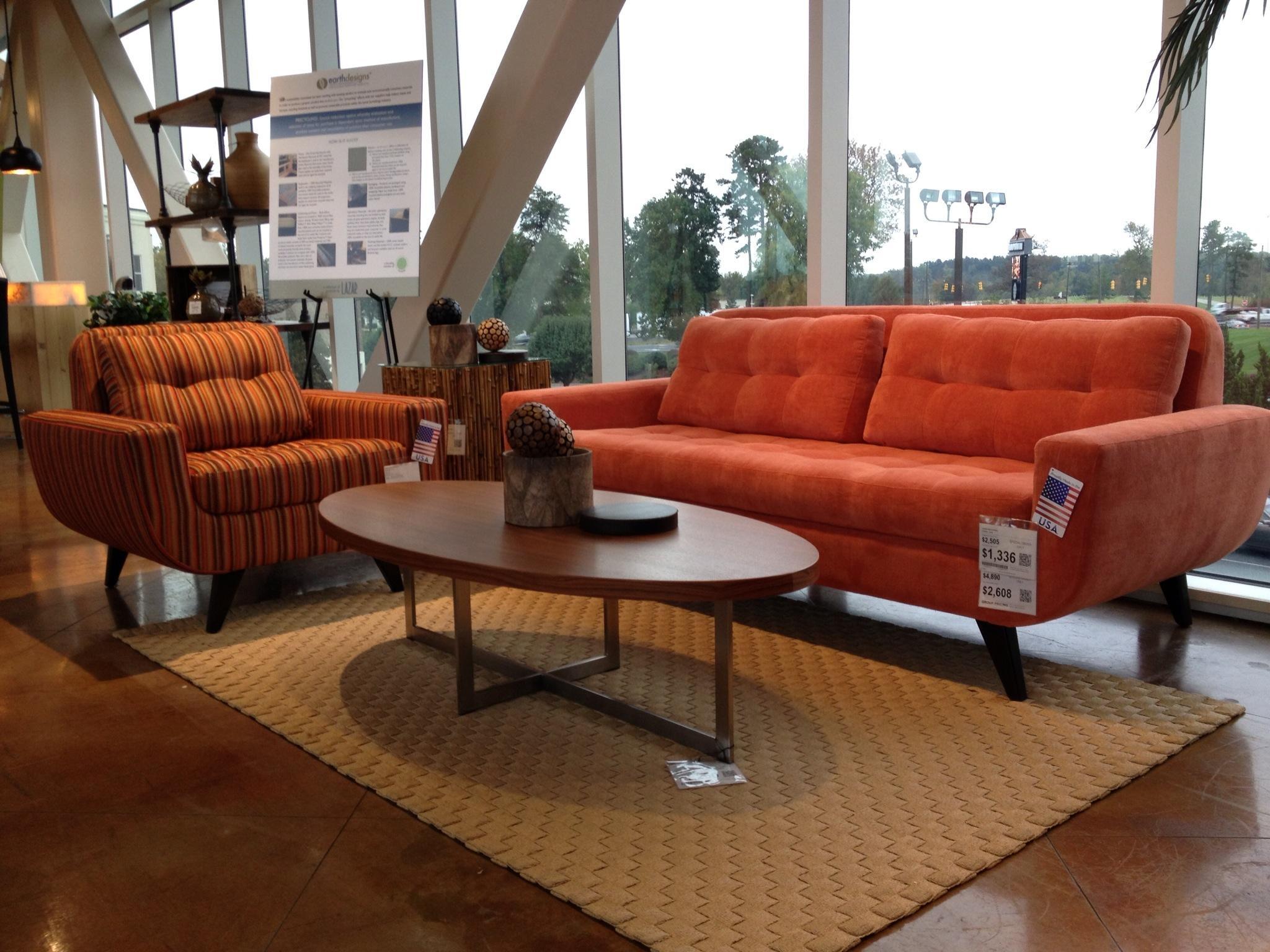 Sofas Center : Orange Leather Sofa Kanes Furniture Sofas And With Regard To Burnt Orange Sofas (Image 18 of 20)