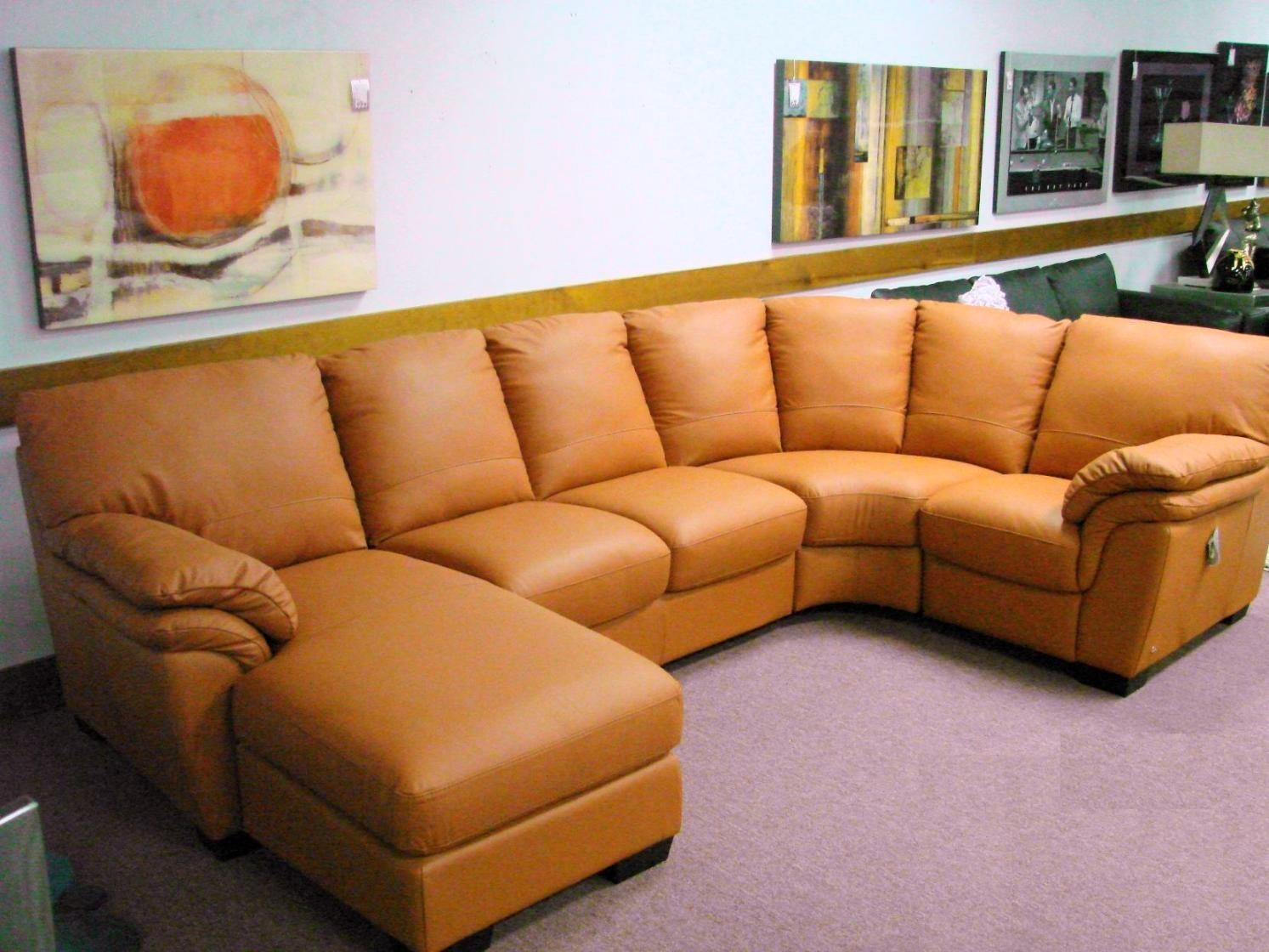 Sofas Center : Orange Leather Sofa Sectional Sleepers Sleeper Inside Burnt Orange Leather Sofas (View 7 of 20)