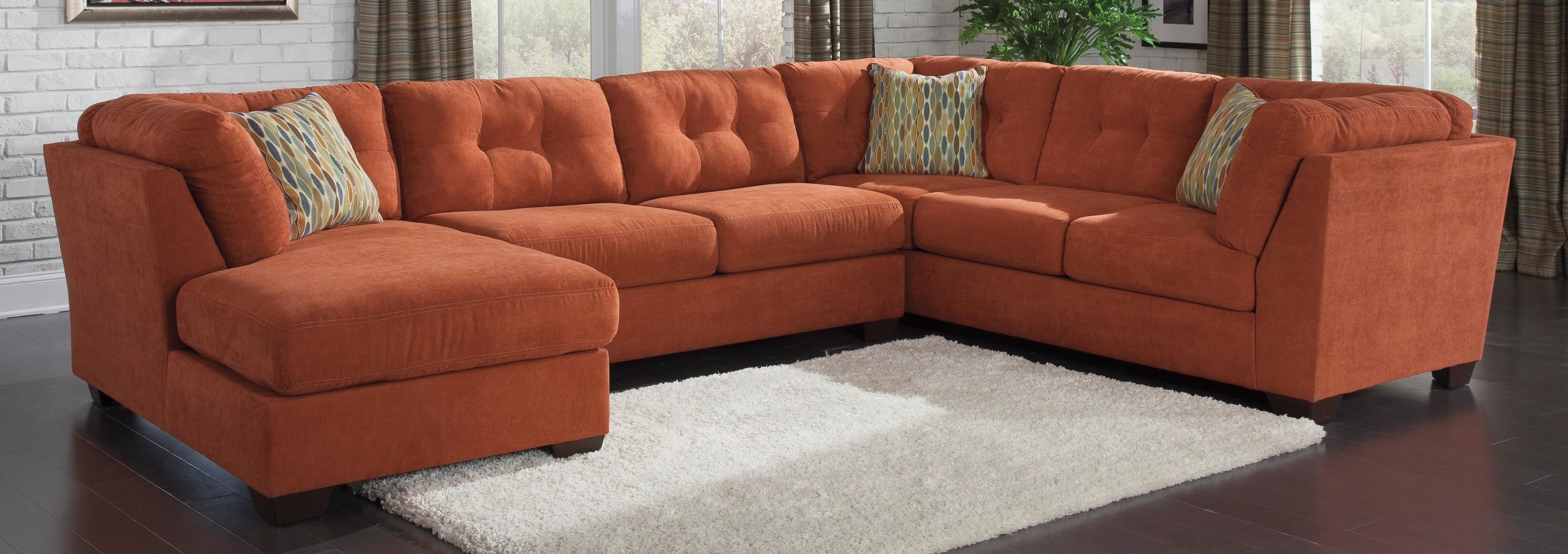 Sofas Center : Orange Sectional Sofa Edra Striking Photos Ideas Regarding Orange Sectional Sofas (View 12 of 20)