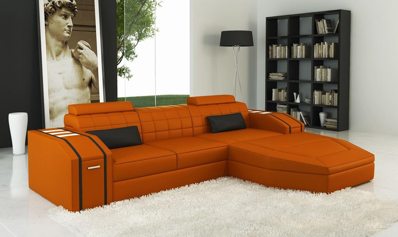 Sofas Center : Orangether Sofa Remarkable Photo Concept And Chair Throughout Burnt Orange Leather Sofas (Image 17 of 20)