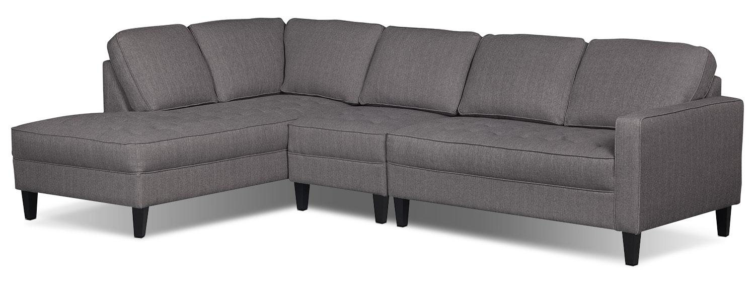Sofas Center : Paris Piece Linen Look Fabric Left Facing Sectional In Cindy Crawford Sectional Sofas (View 18 of 20)