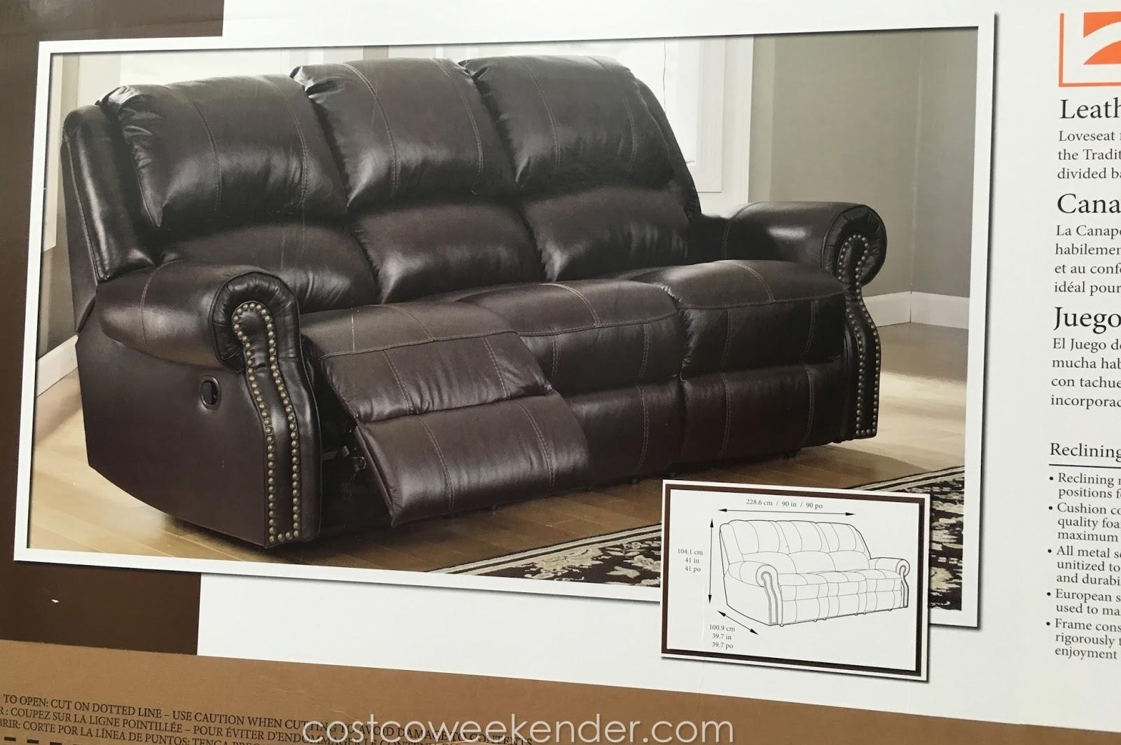 Sofas Center : Pulaski Costco Leather Reclining Sofa 726445Leather With Regard To Berkline Leather Recliner Sofas (Image 20 of 20)