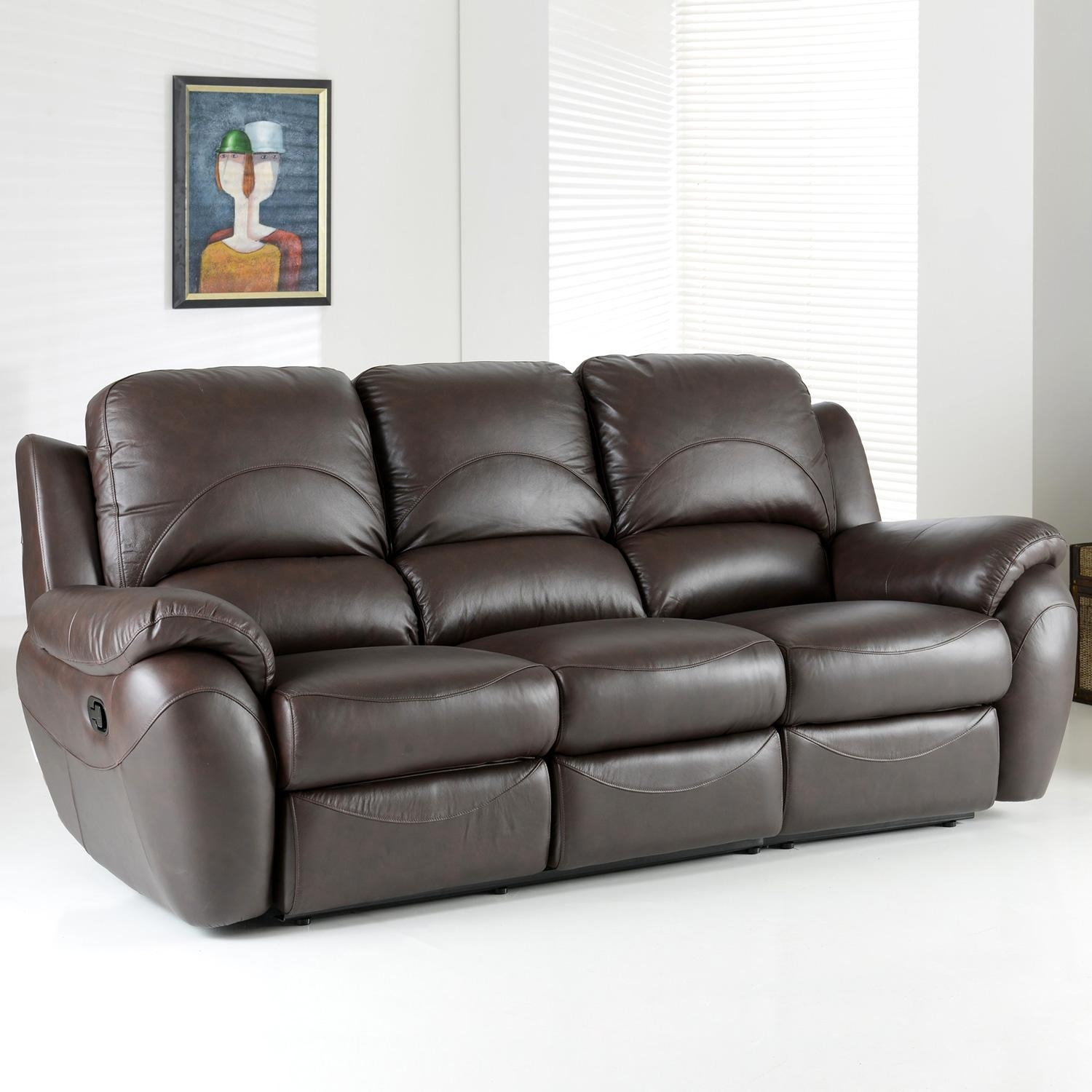 Sofas Center : Rareeater Reclinerofa Picture Design Kacey Chair In 3 Seater Leather Sofas (View 4 of 20)