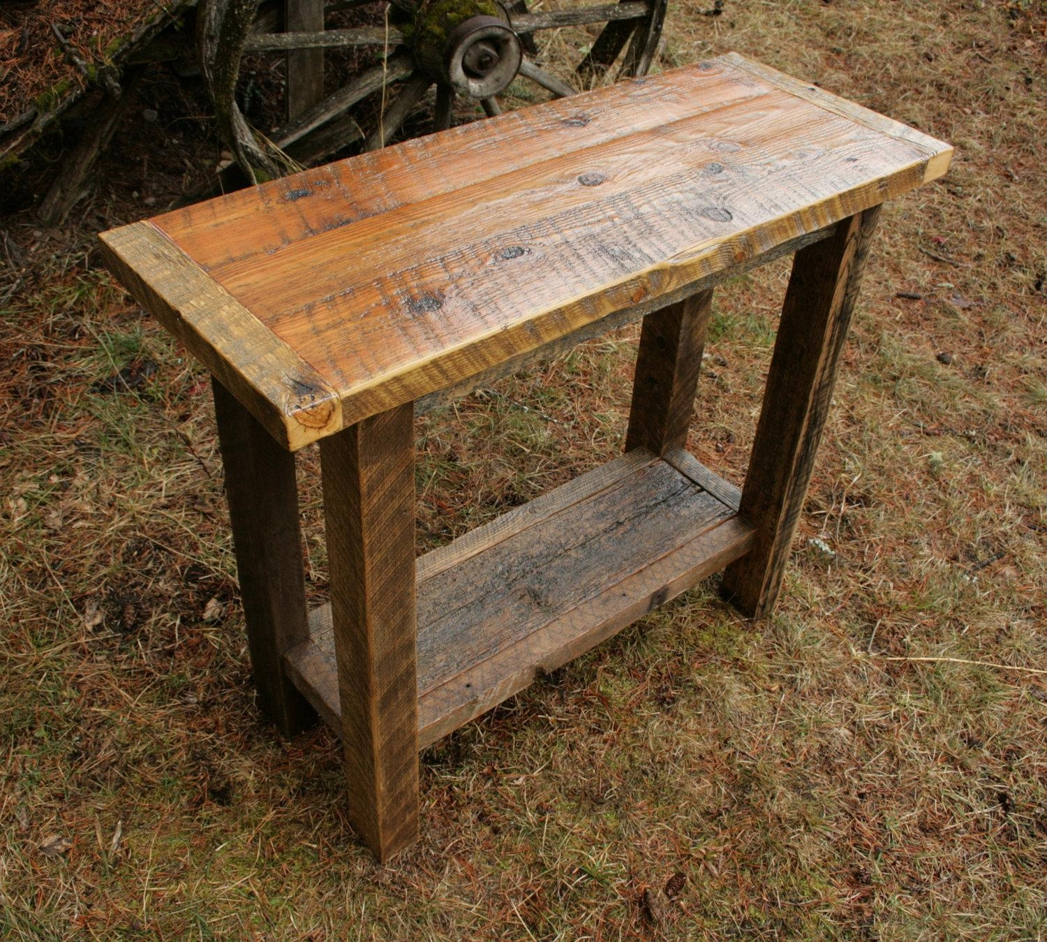 Sofas Center : Reclaimed Wood Tables Barnwood Sofa Table Best In Barnwood Sofa Tables (Image 19 of 20)