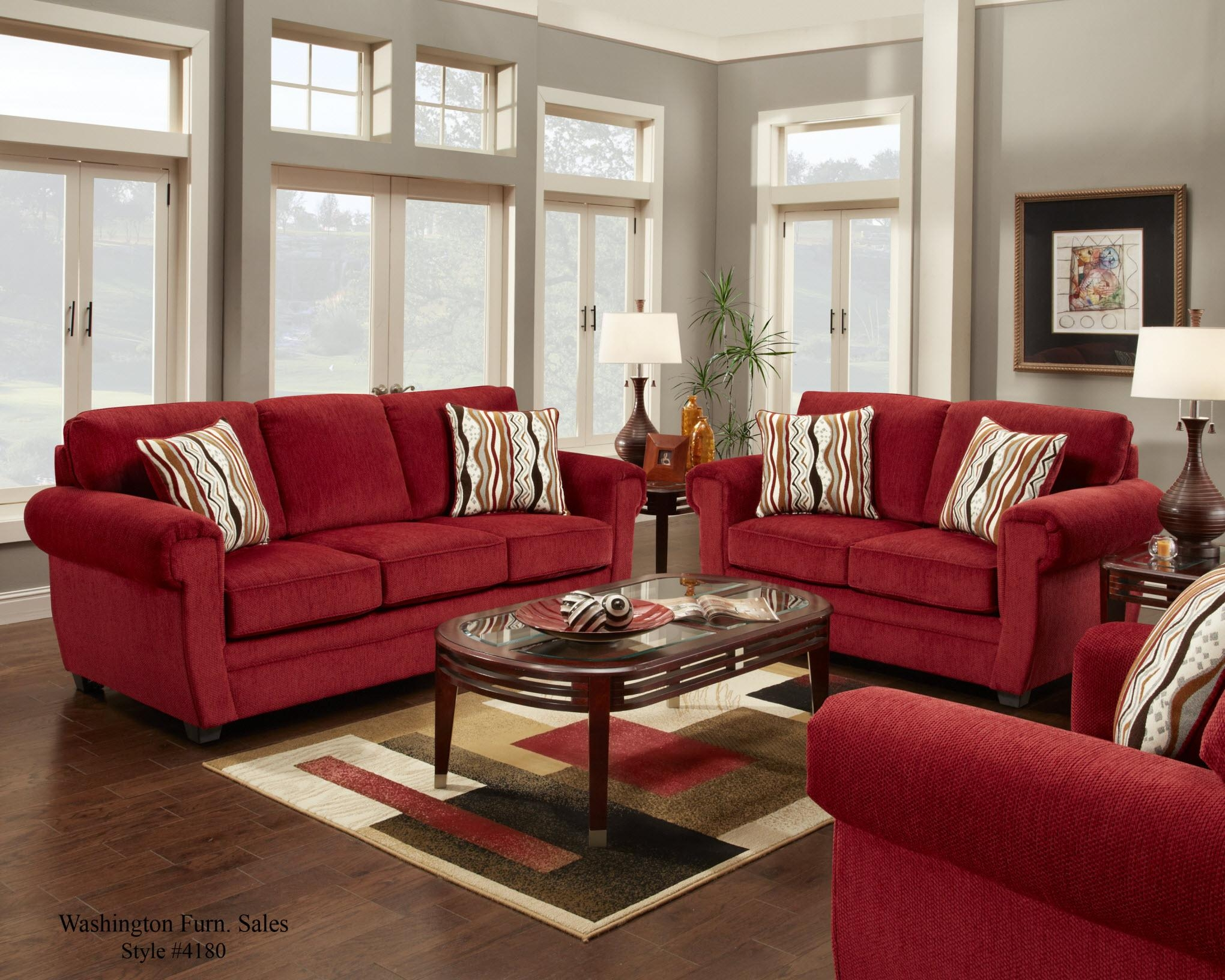Black and red sofa set designs Red sofa ideas