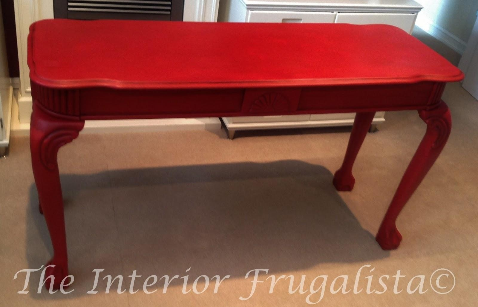 Sofas Center : Red Sofa Table Ebay Tablesred With Drawers And Open Pertaining To Red Sofa Tables (Image 17 of 20)
