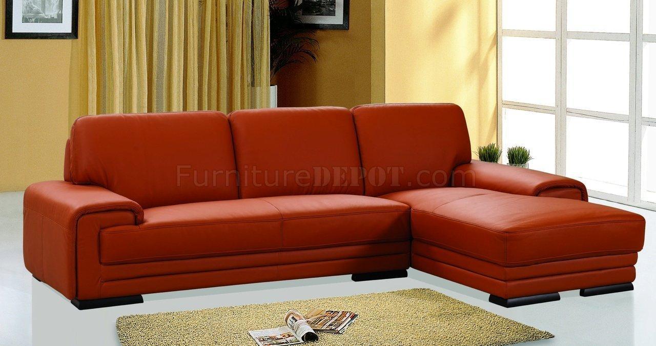 Sofas Center : Remarkable Orange Leather Sofa Photo Concept Regarding Burnt Orange Leather Sofas (Photo 16 of 20)