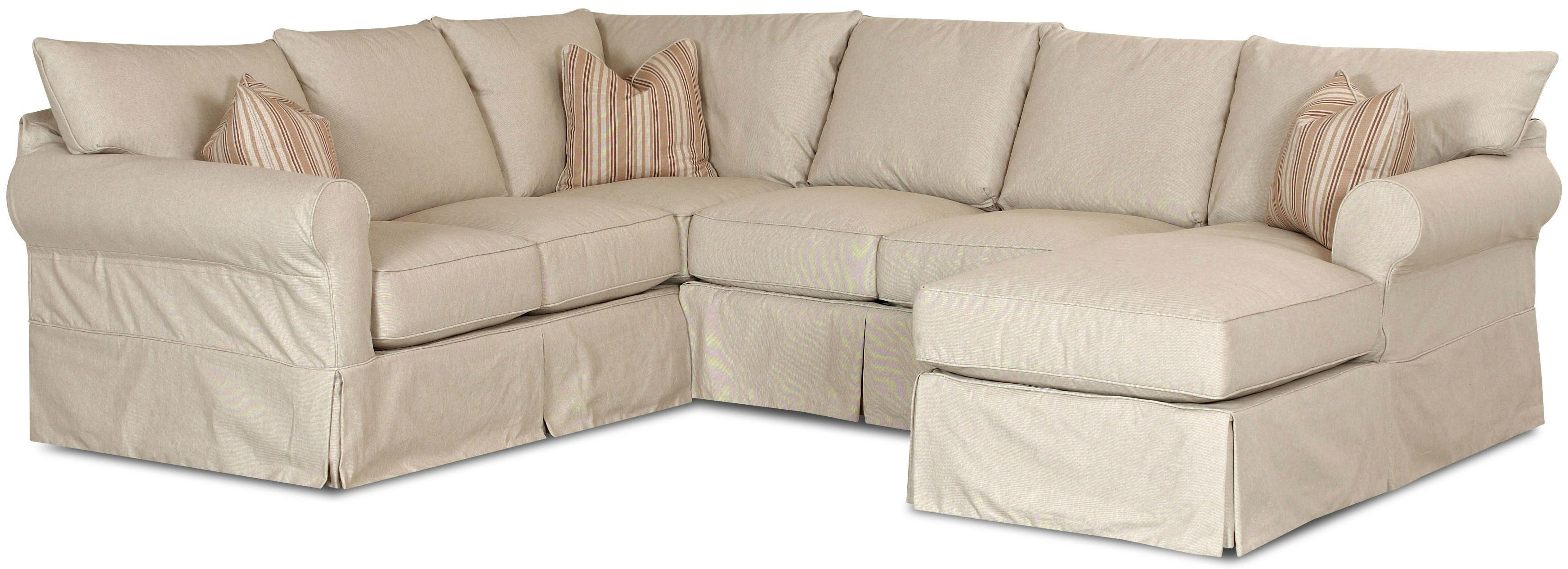 Sofas Center : Roll Arm Slipcovered Sofa With Within Slipcovered Chaises (Image 19 of 20)