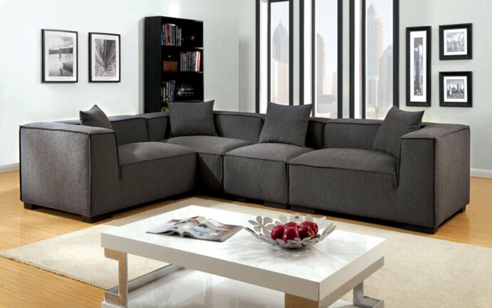 Sofas Center : Roxanne Fabric Piece Modularional Sofa W Ottoman With Individual Piece Sectional Sofas (Image 17 of 20)