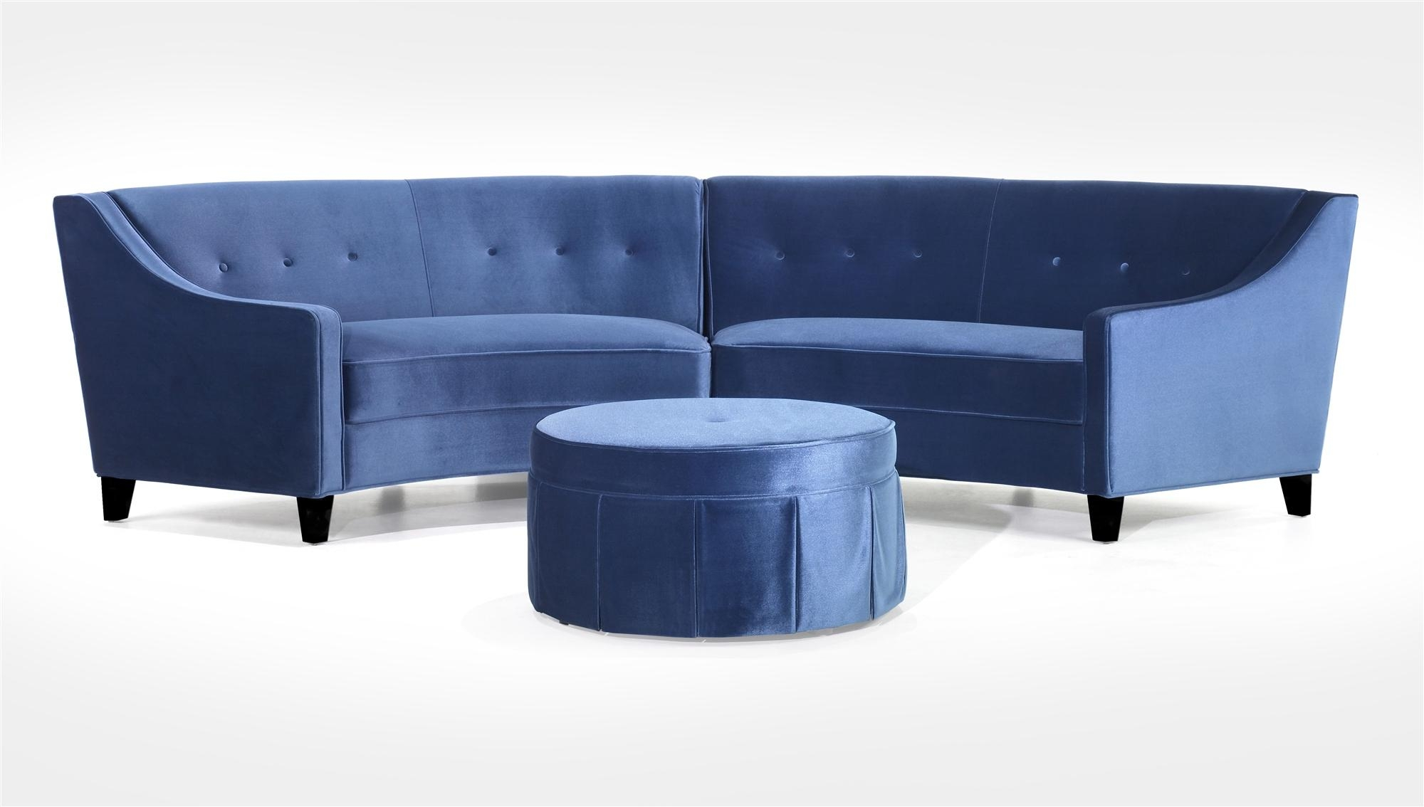 Sofas Center : Royal Blue Velvet Sectional Sofa Indigo Denim With Velvet Sofas Sectionals (Image 14 of 20)