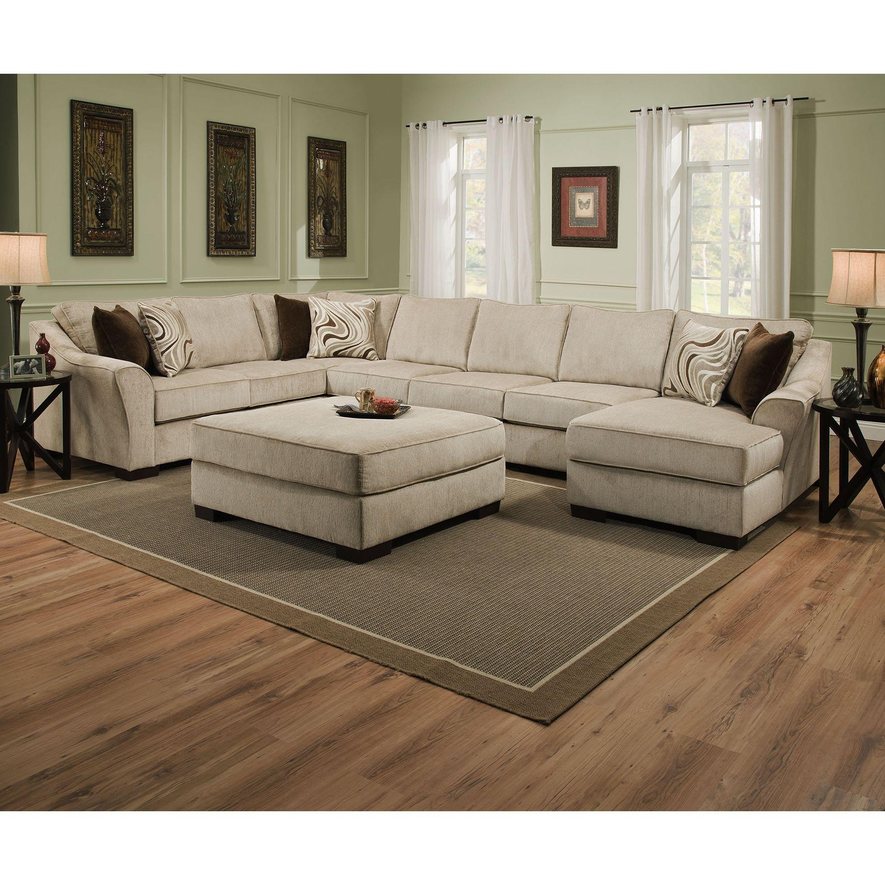 Sofas Center : Sectional Sofa With Large Ottoman Cleanupflorida Intended For Sectional With Large Ottoman (Image 16 of 20)