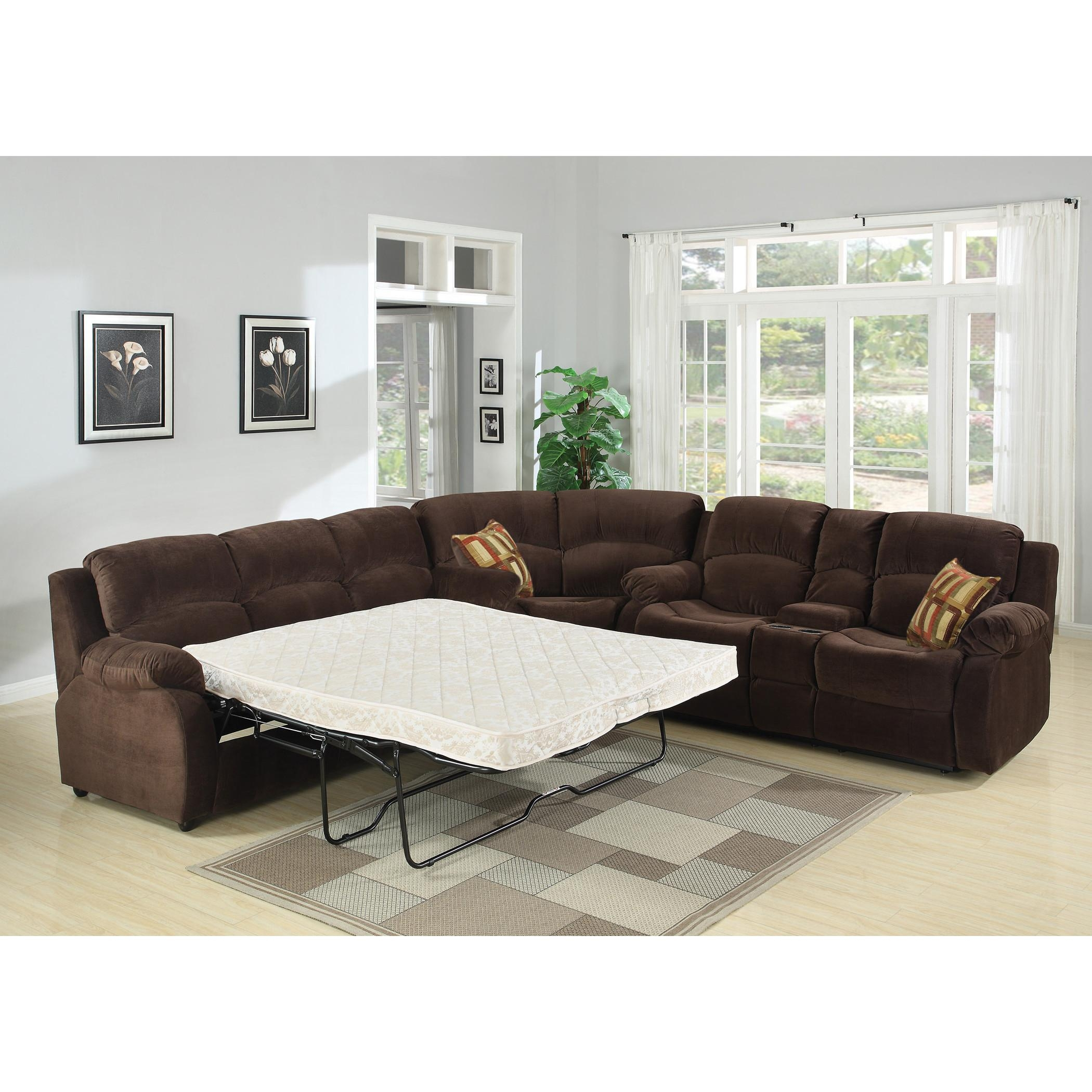 Sofas Center : Sectional Sofa With Sleeper And Chaise Ansugallery Regarding Sleeper Recliner Sectional (Image 19 of 20)