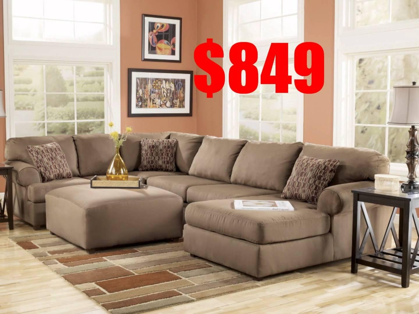Sofas Center : Sectional Sofas Ashley Furniture Faux Leather Sofa For Ashley Furniture Brown Corduroy Sectional Sofas (View 6 of 20)