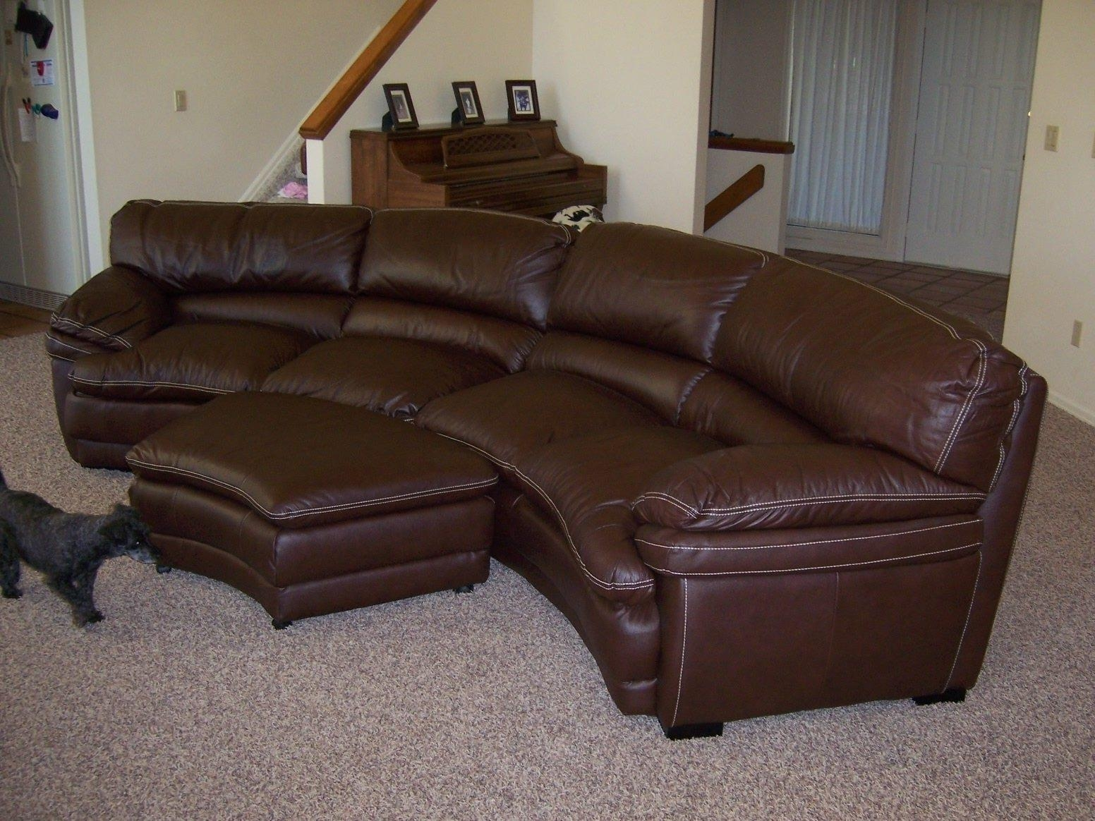circular leather couch couch ideas. Black Bedroom Furniture Sets. Home Design Ideas