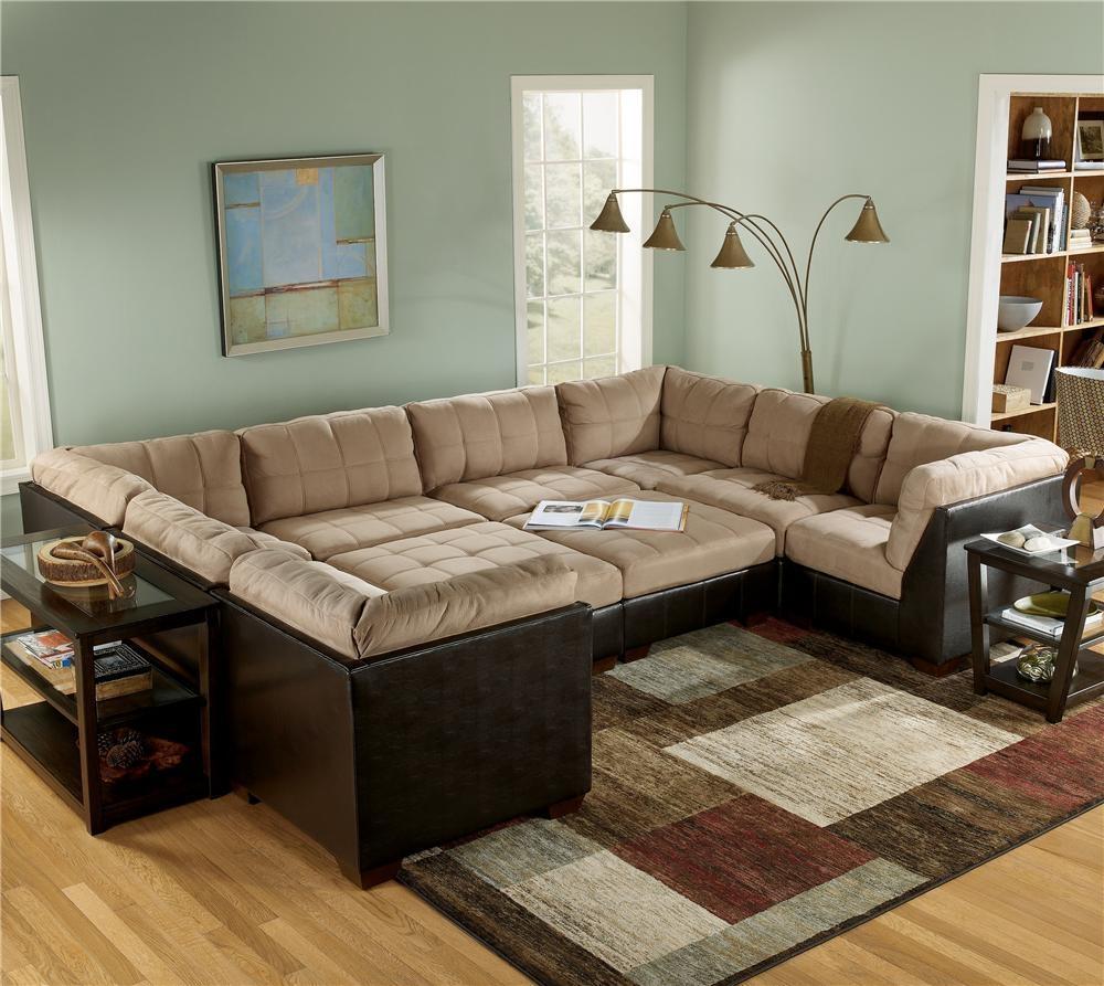 Sofas Center : Sensational Large Sectional Sofa With Ottoman Pertaining To Sectional Sofa With Oversized Ottoman (Image 19 of 20)