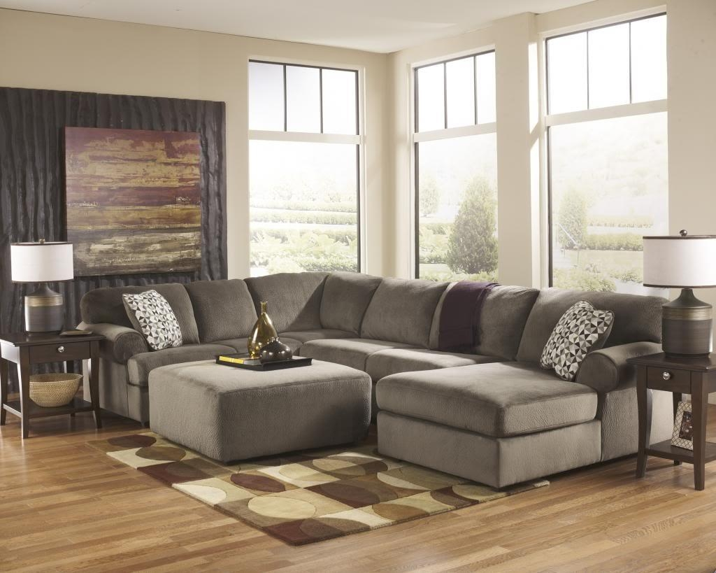 Sofas Center : Sensational Large Sectional Sofa With Ottoman Regarding Sectional Sofa With Oversized Ottoman (Image 20 of 20)