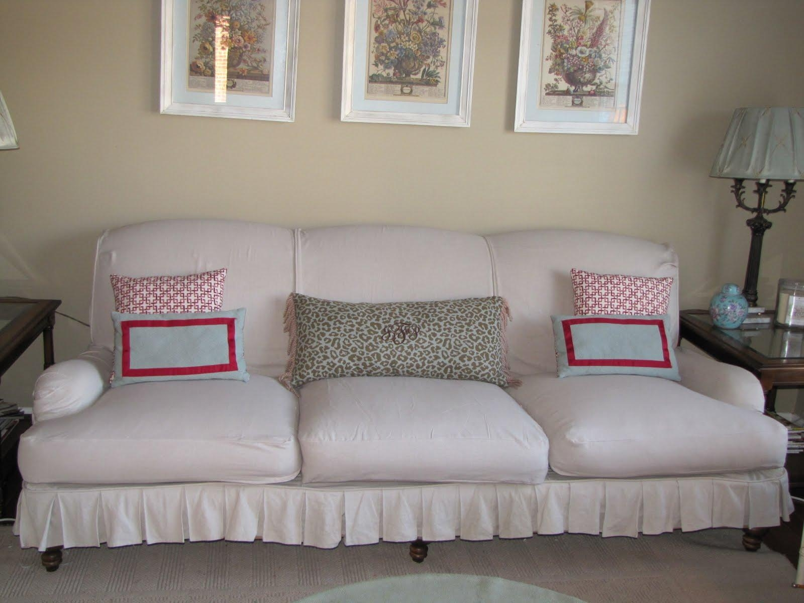 Sofas Center : Shabby Chic Slipcovers For Sofas Chenille Pertaining To Shabby Chic Slipcovers (Image 18 of 20)
