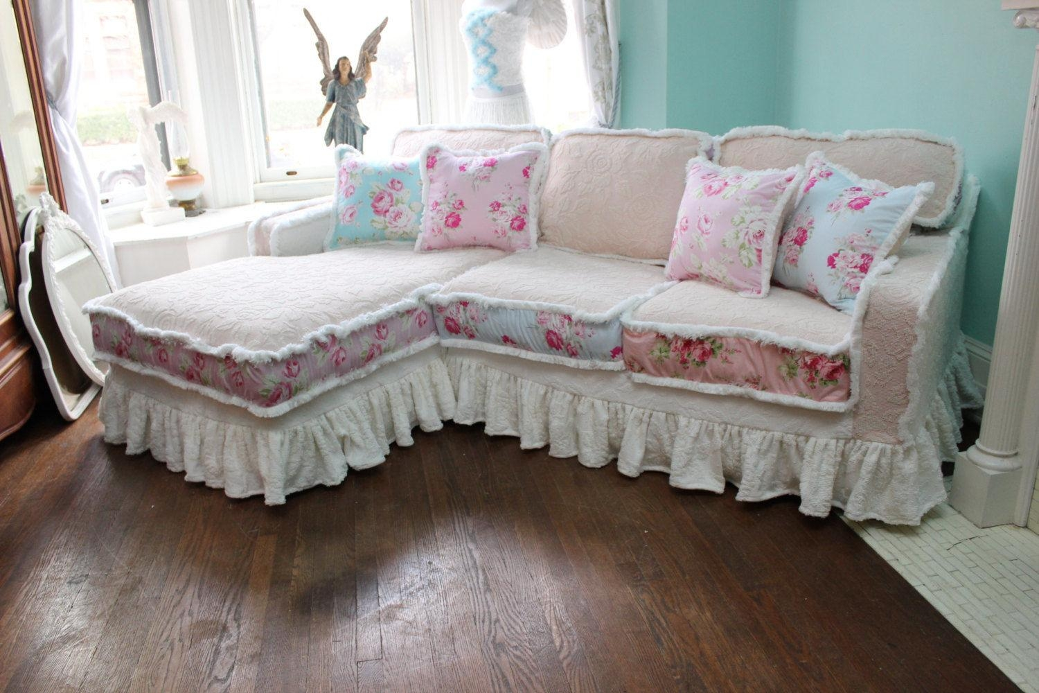 Sofas Center : Shabby Chic Slipcovers For Sofas Diy Slipcover In Shabby Slipcovers (Image 20 of 20)