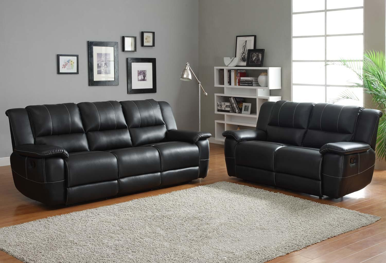 Sofas Center : Shocking Black Sofa Set Picture Ideas Home Paris Inside Contemporary Black Leather Sofas (Image 20 of 20)