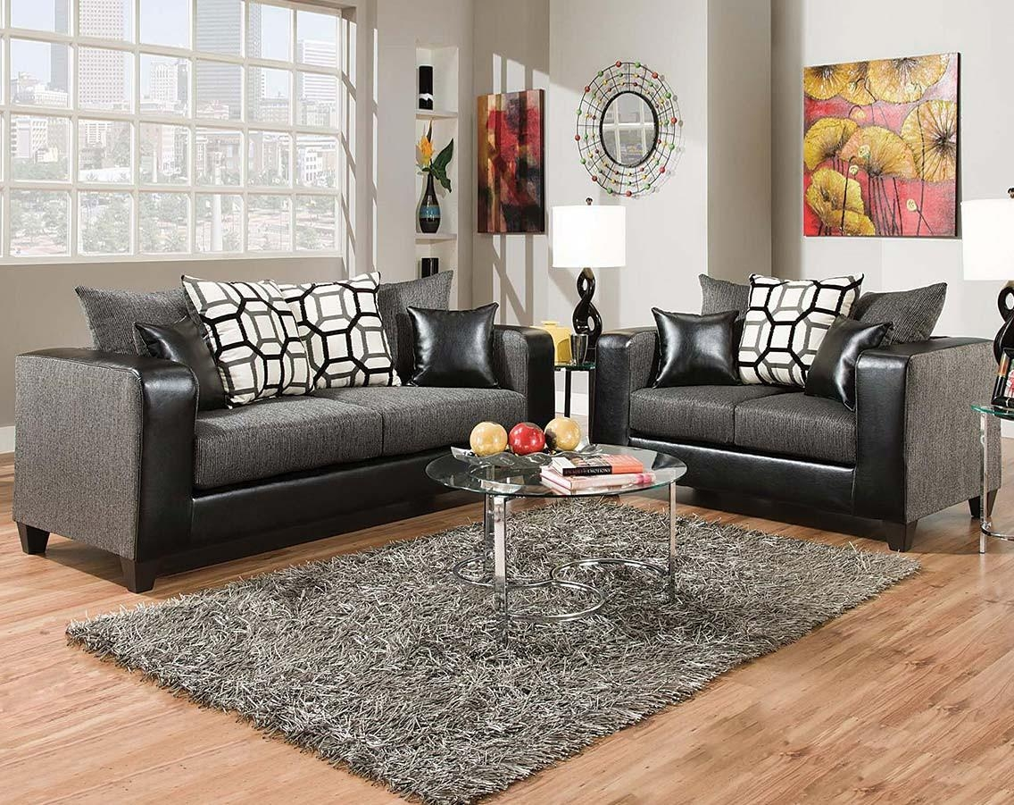 Sofas Center : Simmons Flannel Charcoal Sofa And Loveseat With Regard To Simmons Sofas And Loveseats (Image 15 of 20)
