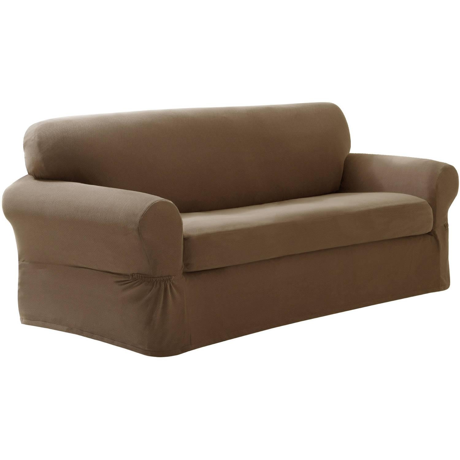 Sofas Center : Sofa Slipcovers Walmart Maytex Stretch Piece With Stretch Slipcover Sofas (Image 16 of 20)