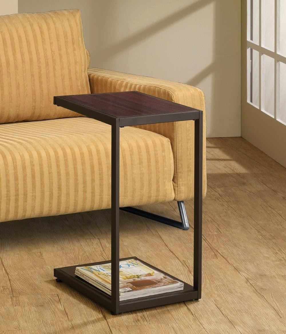 Sofas Center : Sofa Snack Table Chair Arm Rest Tray Stand With Under Sofa Tray Tables (Image 7 of 20)