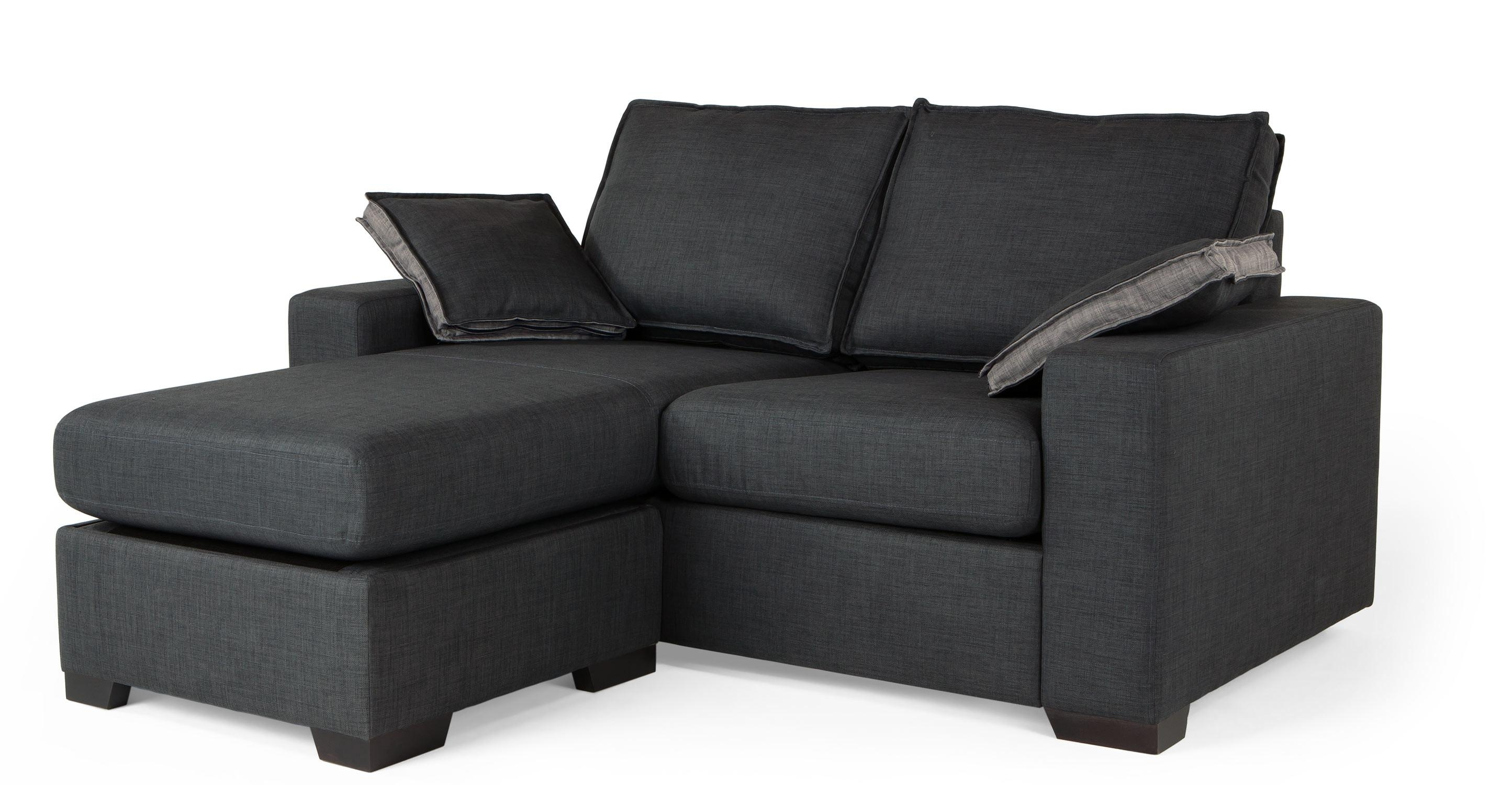 Sofas Center : Stirring Smallnal Sofa Images Ideas Charcoal Wyatt With 2 Seat Sectional Sofas (Image 14 of 15)