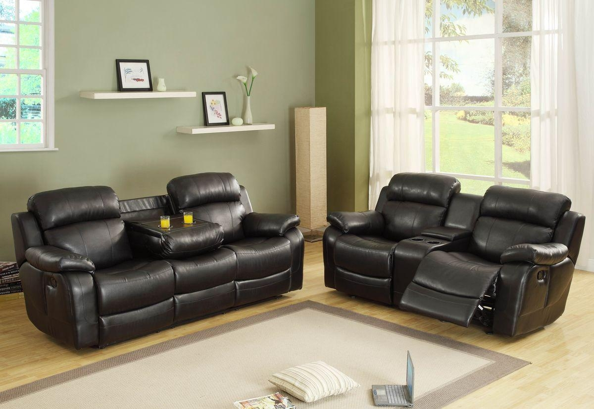 Sofas Center : Striking Double Recliner Sofa With Console Photos Inside Sofas With Console (Image 20 of 20)