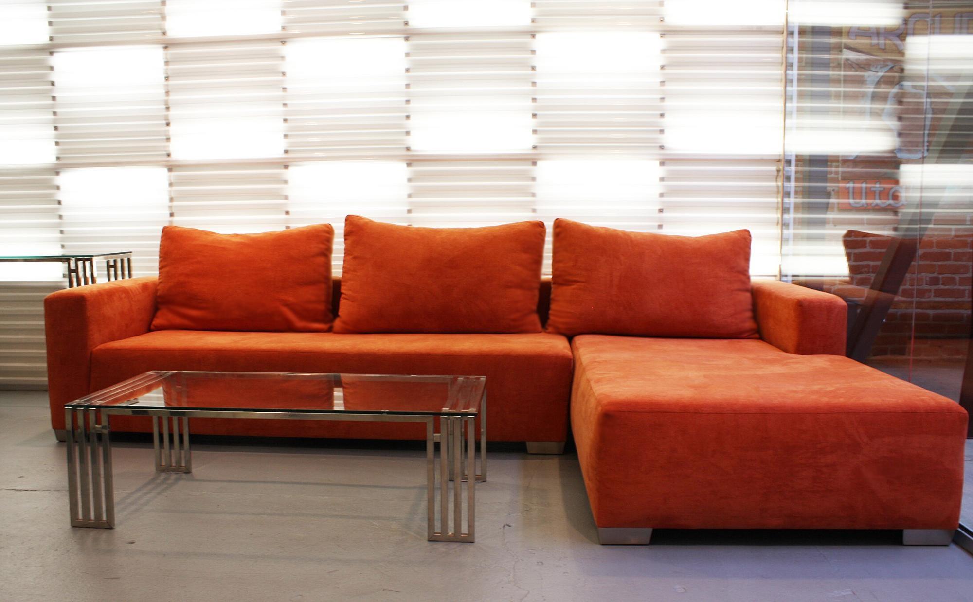 Sofas Center : Striking Orange Sectional Sofa Photos Ideas Divani Inside Orange Sectional Sofa (View 15 of 20)